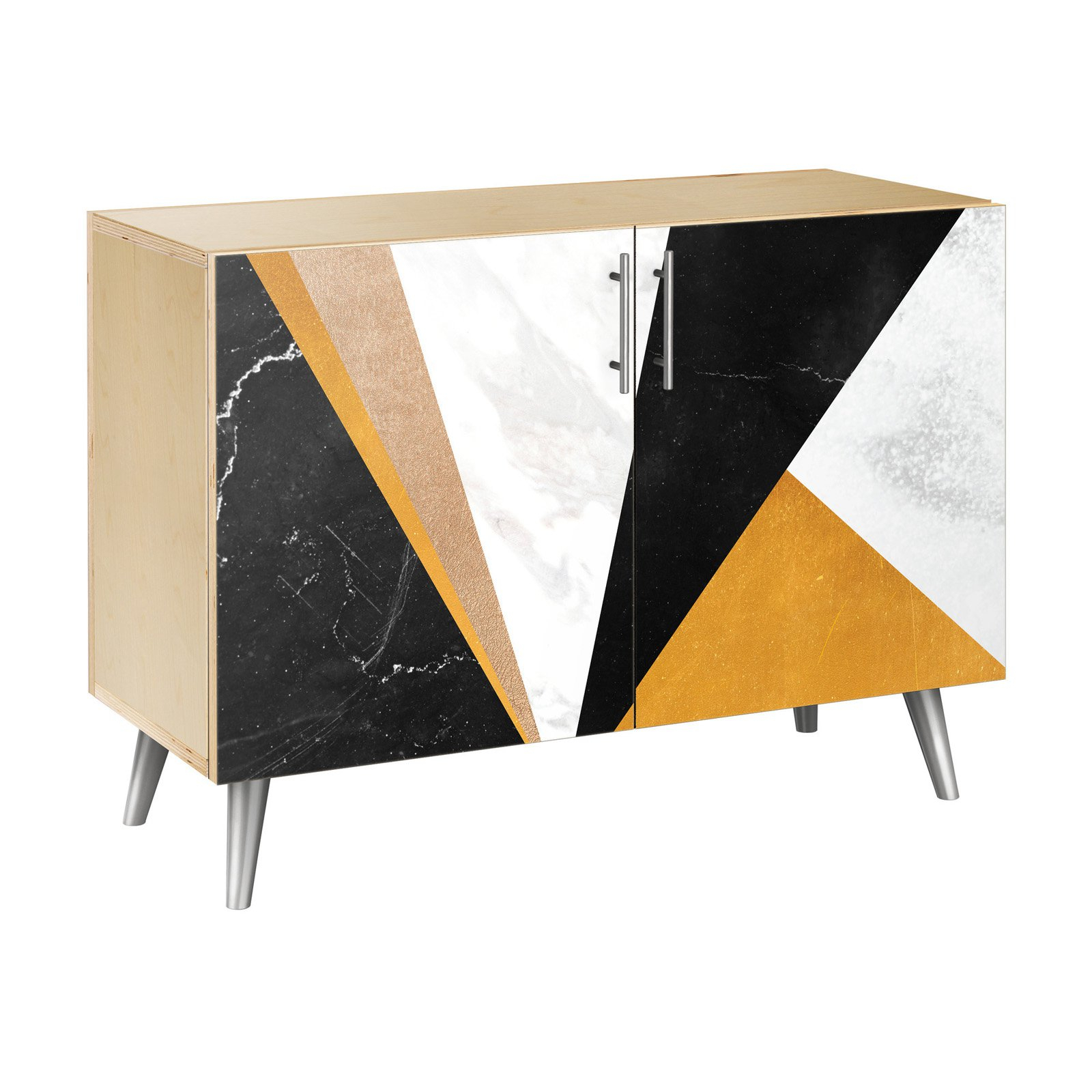 Nyekoncept Glamorous Geometry Flare Credenza | Products In pertaining to Line Geo Credenzas (Image 22 of 30)