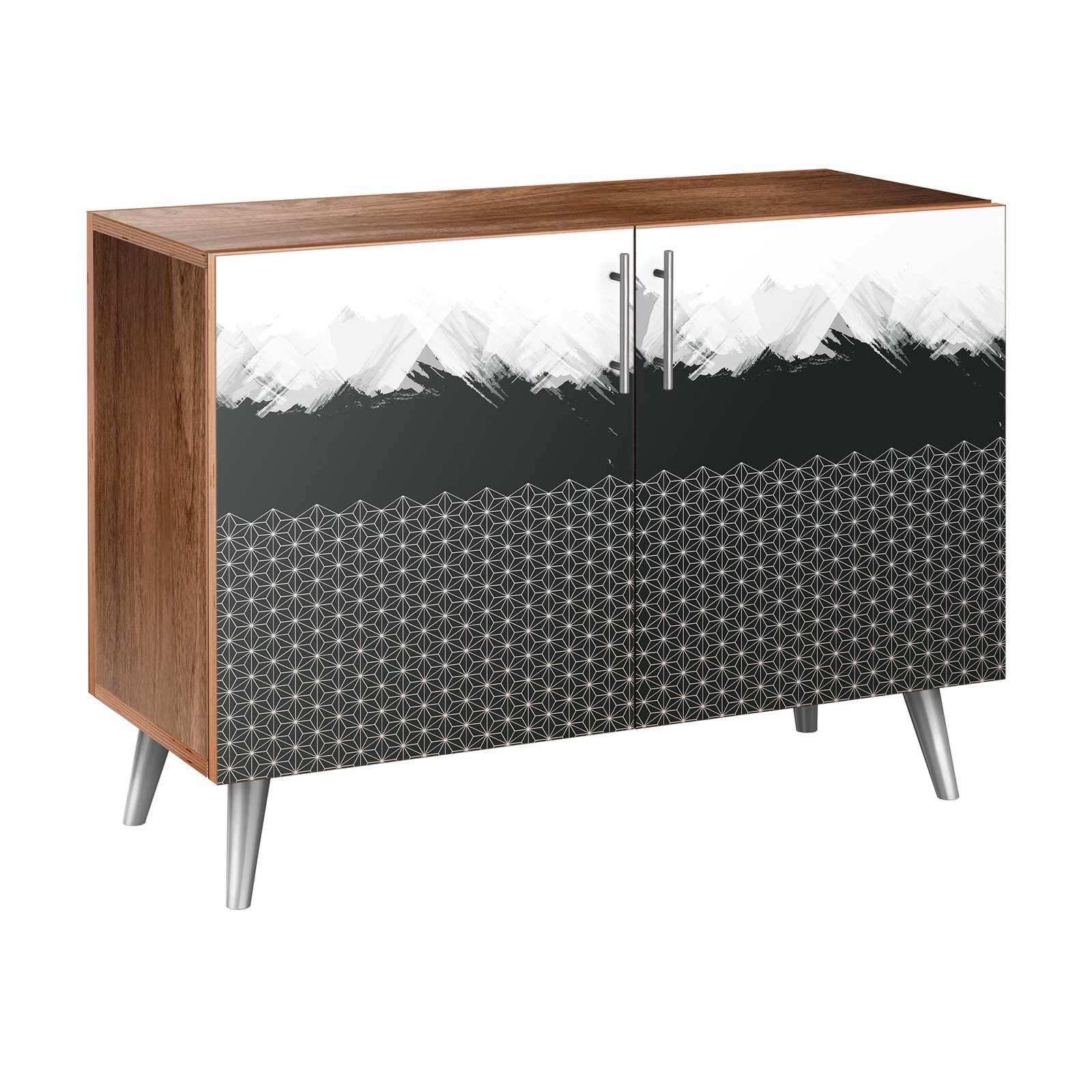 Nyekoncept Starlight Abstraction Flare Credenza | Products regarding Line Geo Credenzas (Image 23 of 30)