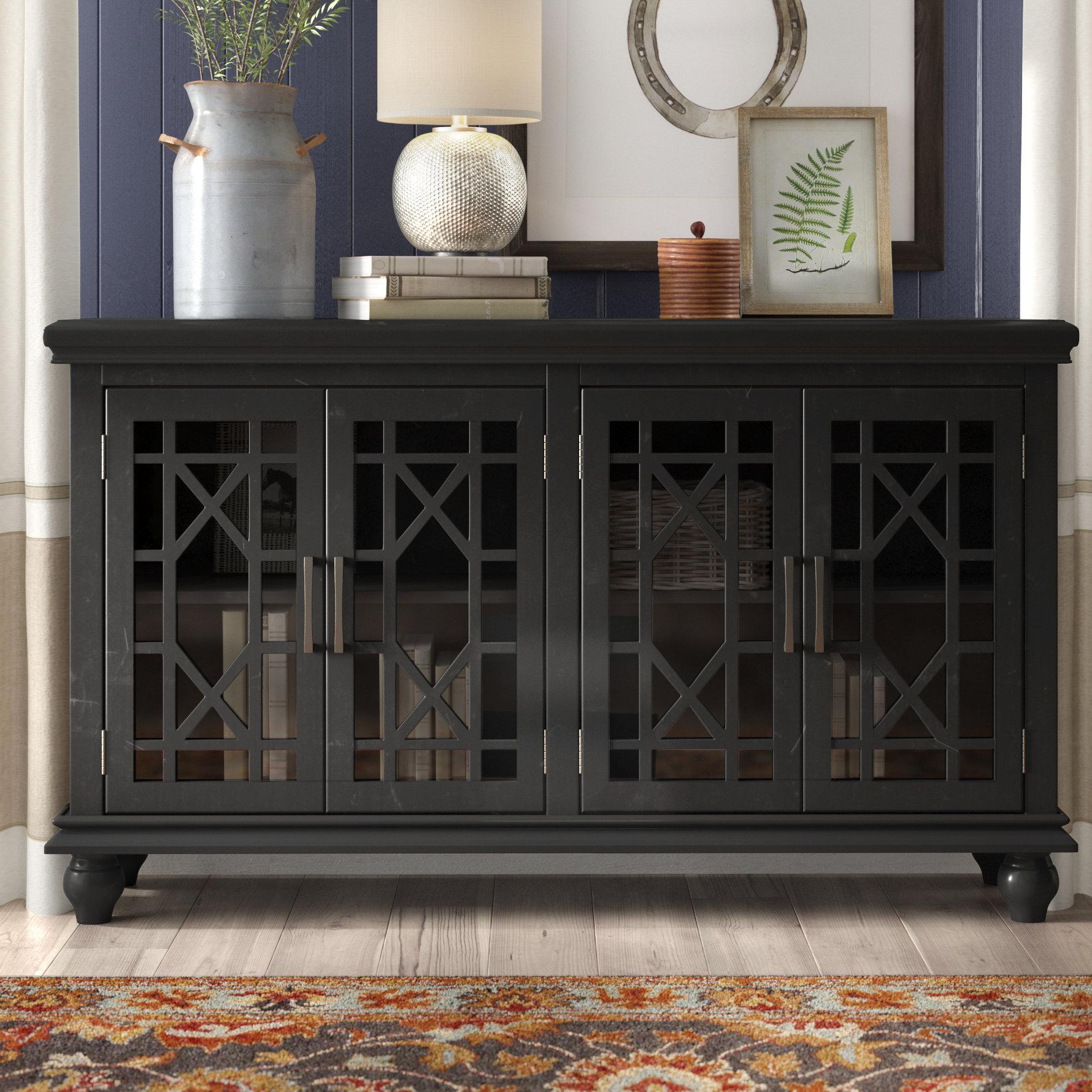 One Cabinet White Wonderful Furniture Wayfair Ashley Accent With Regard To Kattie 4 Door Cabinets (View 17 of 30)