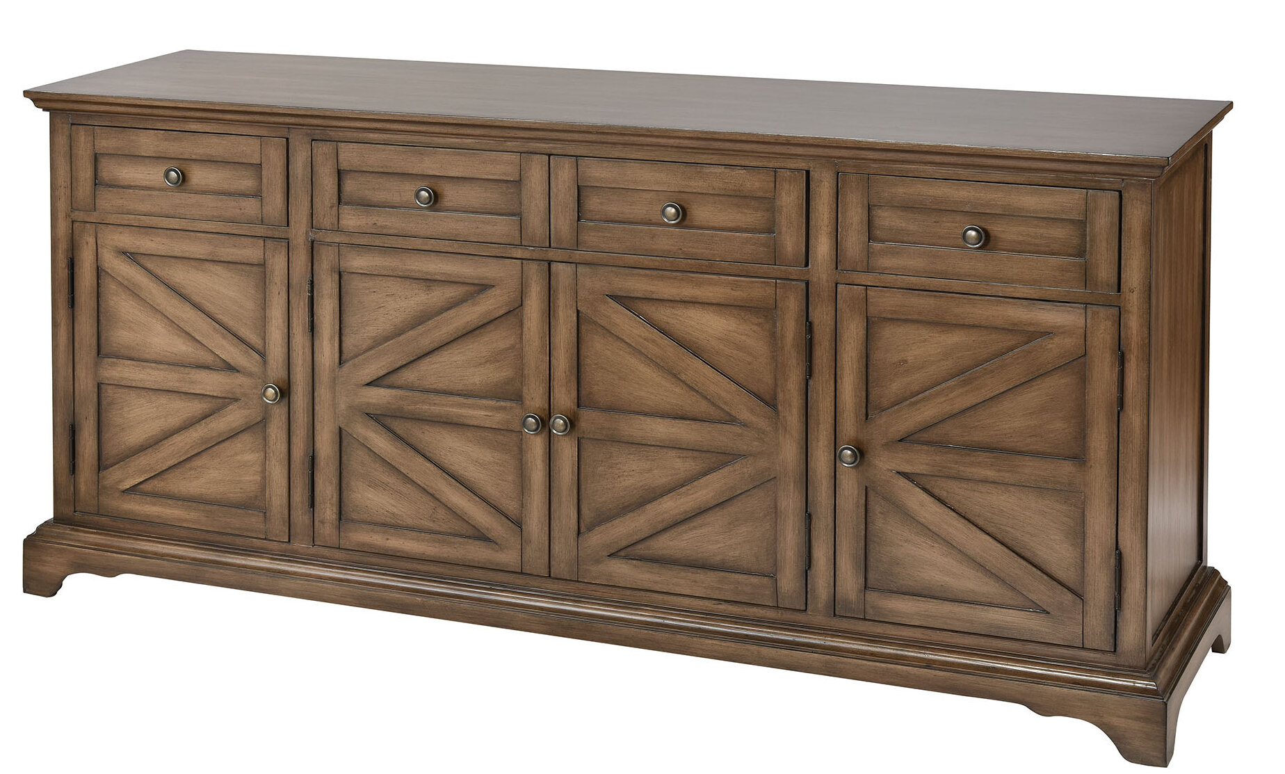 Pannell Farmhouse Wood Stain Sideboard For Armelle Sideboards (Image 21 of 30)
