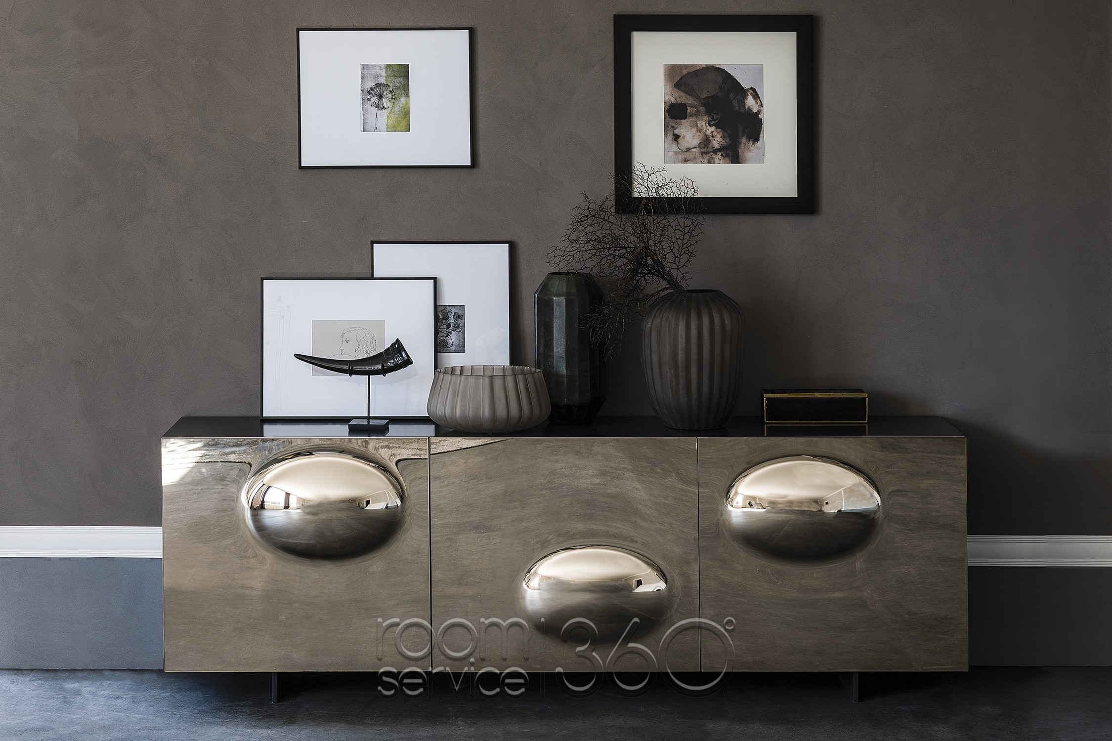 Paramount Sideboardcattelan Italia | Room Service 360° Pertaining To 3 Drawer Titanium Buffets (View 12 of 30)