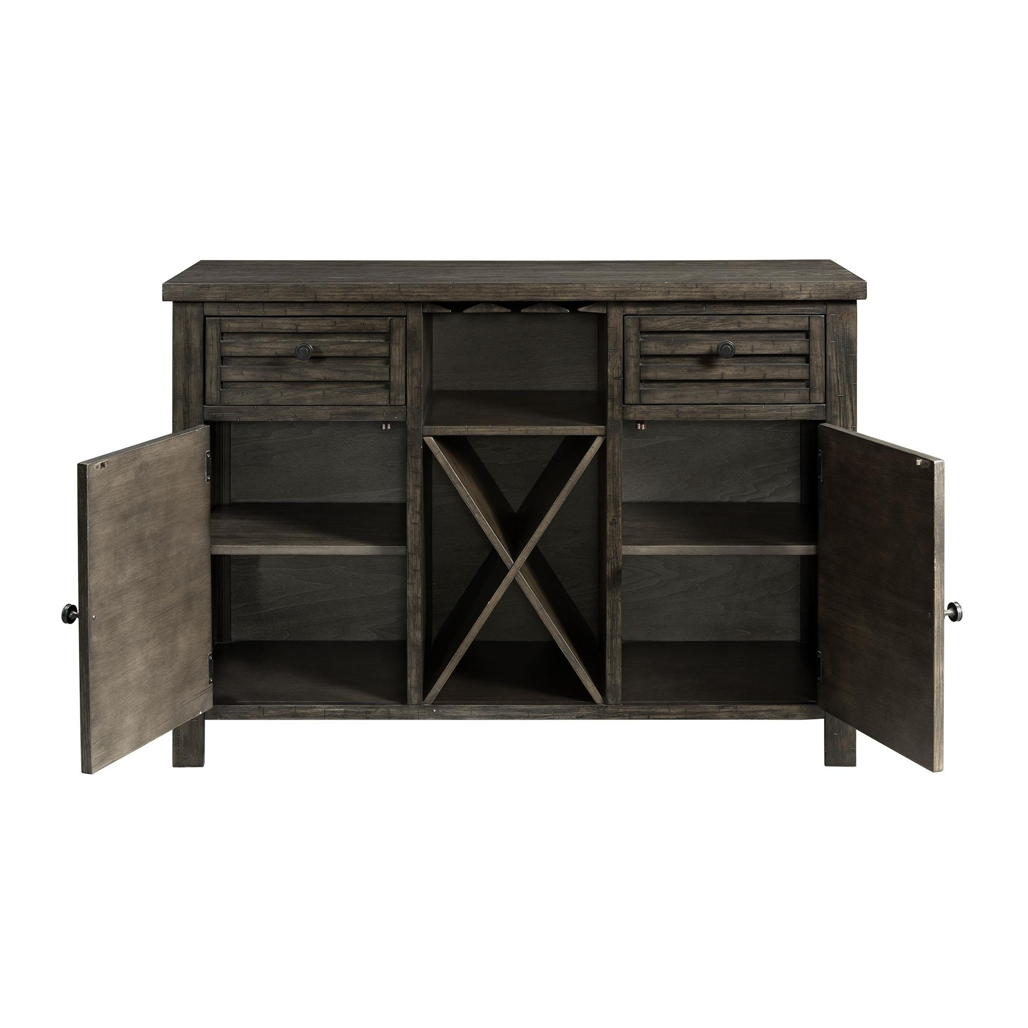 Picket House Montego Dark Walnut Wood 2 Drawers Server Within Simple Living Montego Black Wooden Buffets (View 19 of 30)