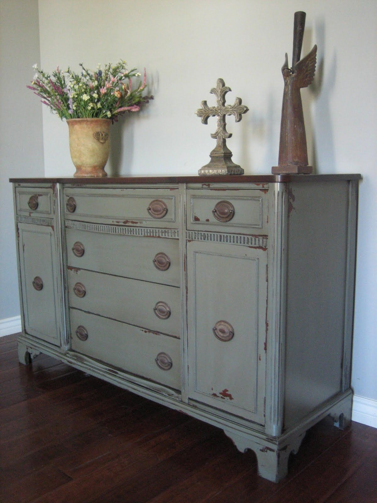 Pictures Of Gray Painted Furniture | Cottage Euro European Throughout Contemporary Distressed Grey Buffets (View 25 of 30)