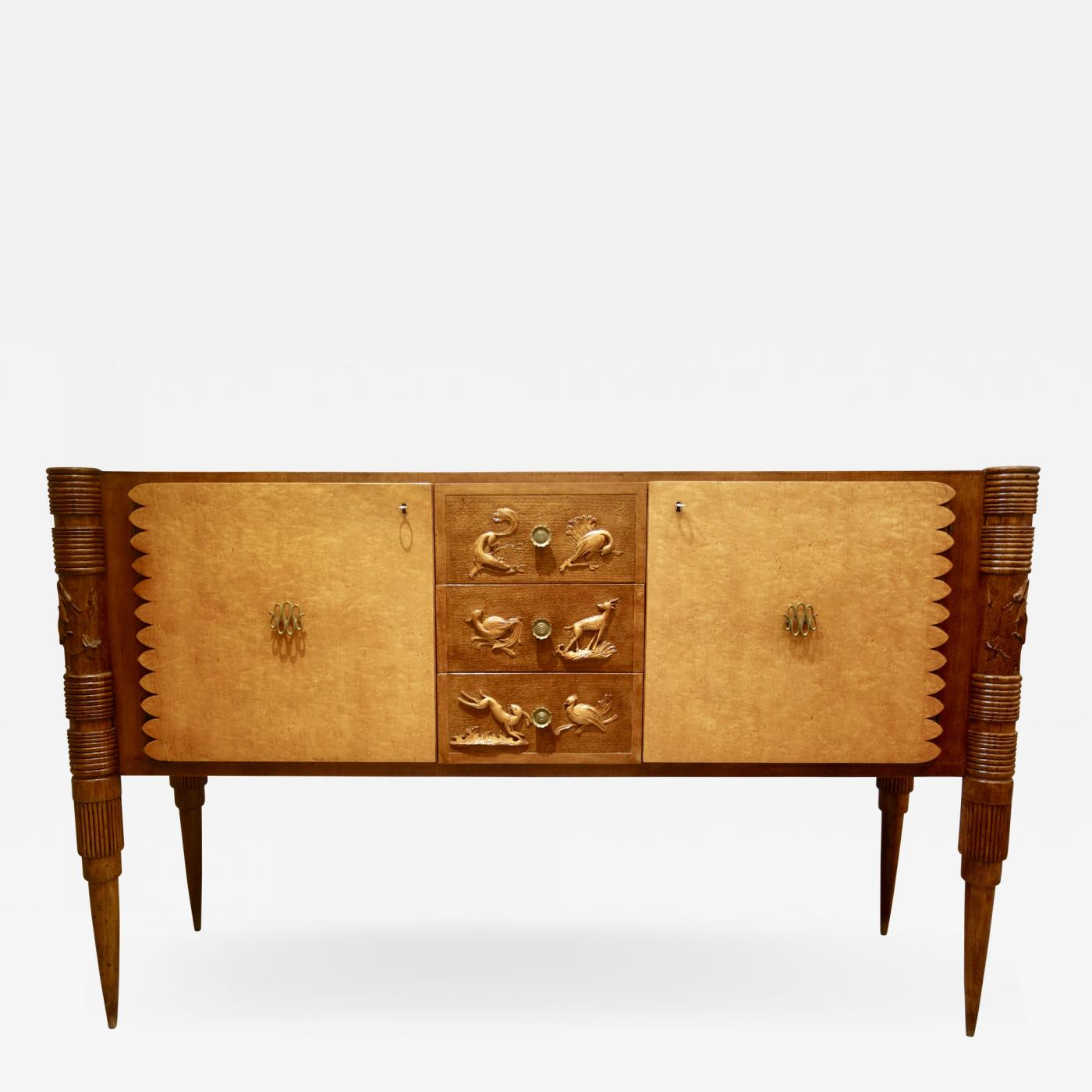 Pier Luigi Colli - An Italian Carved Two-Tone Wood Sideboard Or Credenza Pier Luigi Colli regarding Multi Stripe Credenzas (Image 25 of 30)