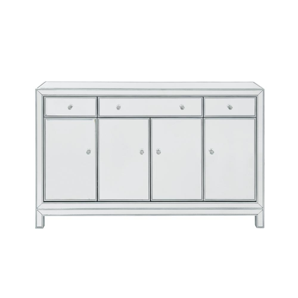 Plywell Assembled 56X36X13 In. Base Buffet Cabinet With 3-Drawers 3-Shelves  4-Doors In Antique Silver Paint throughout 3-Drawer Storage Buffets (Image 22 of 30)