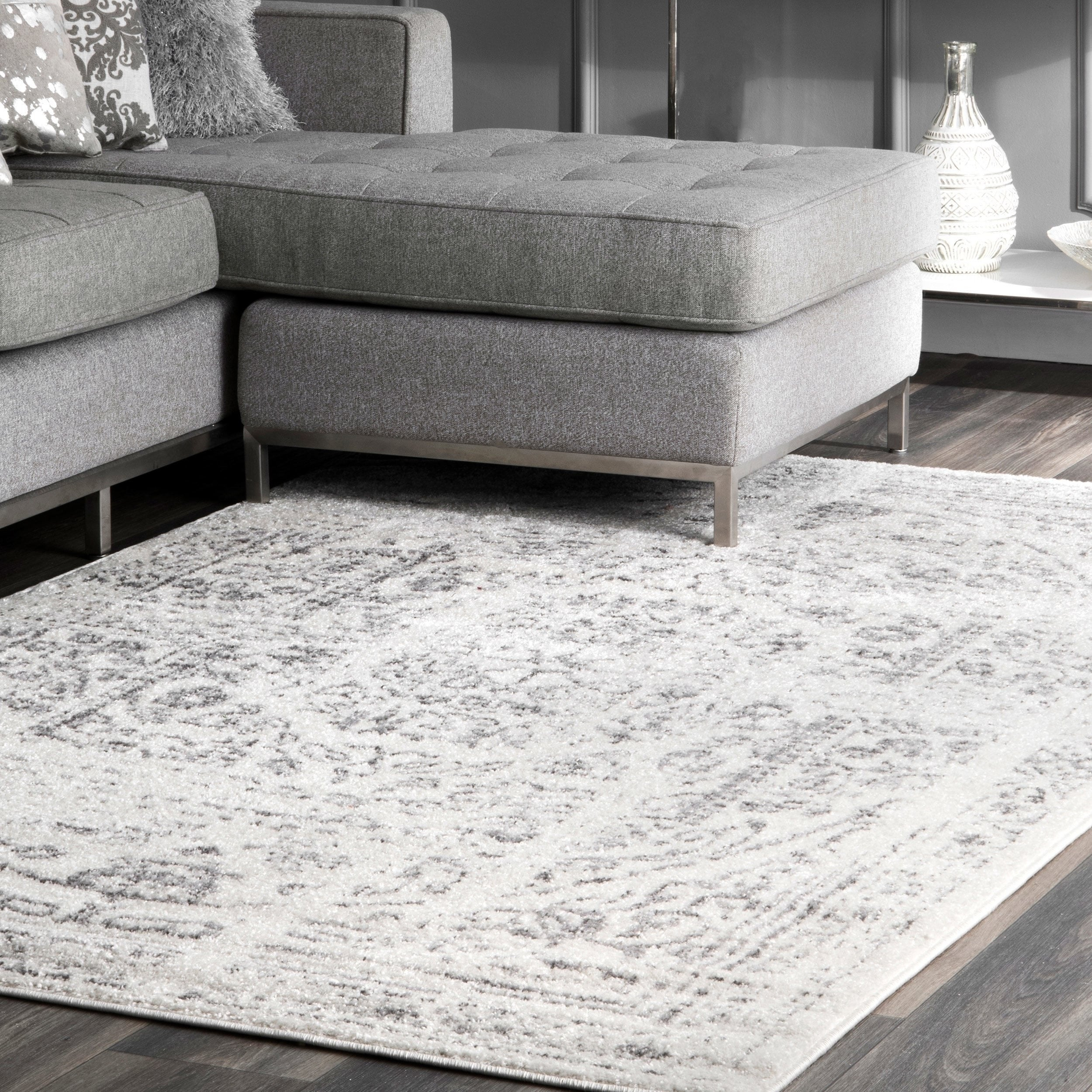 Porch & Den Hope Vintage Distressed Ring Area Rug with Arminta Wood Sideboards (Image 23 of 30)