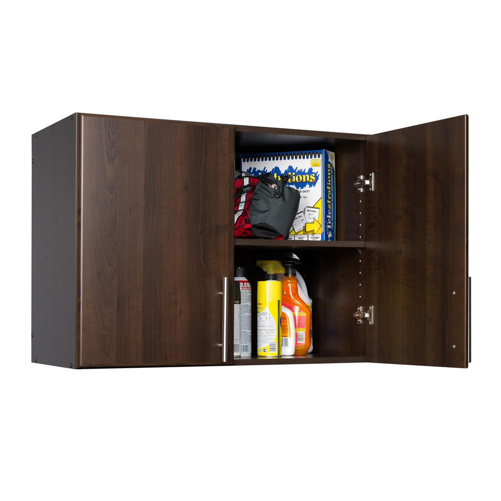 Prepac Elite Espresso Cabinet Eew 3224 – The Home Depot Intended For Espresso Sliding Door Stackable Buffets (View 10 of 30)