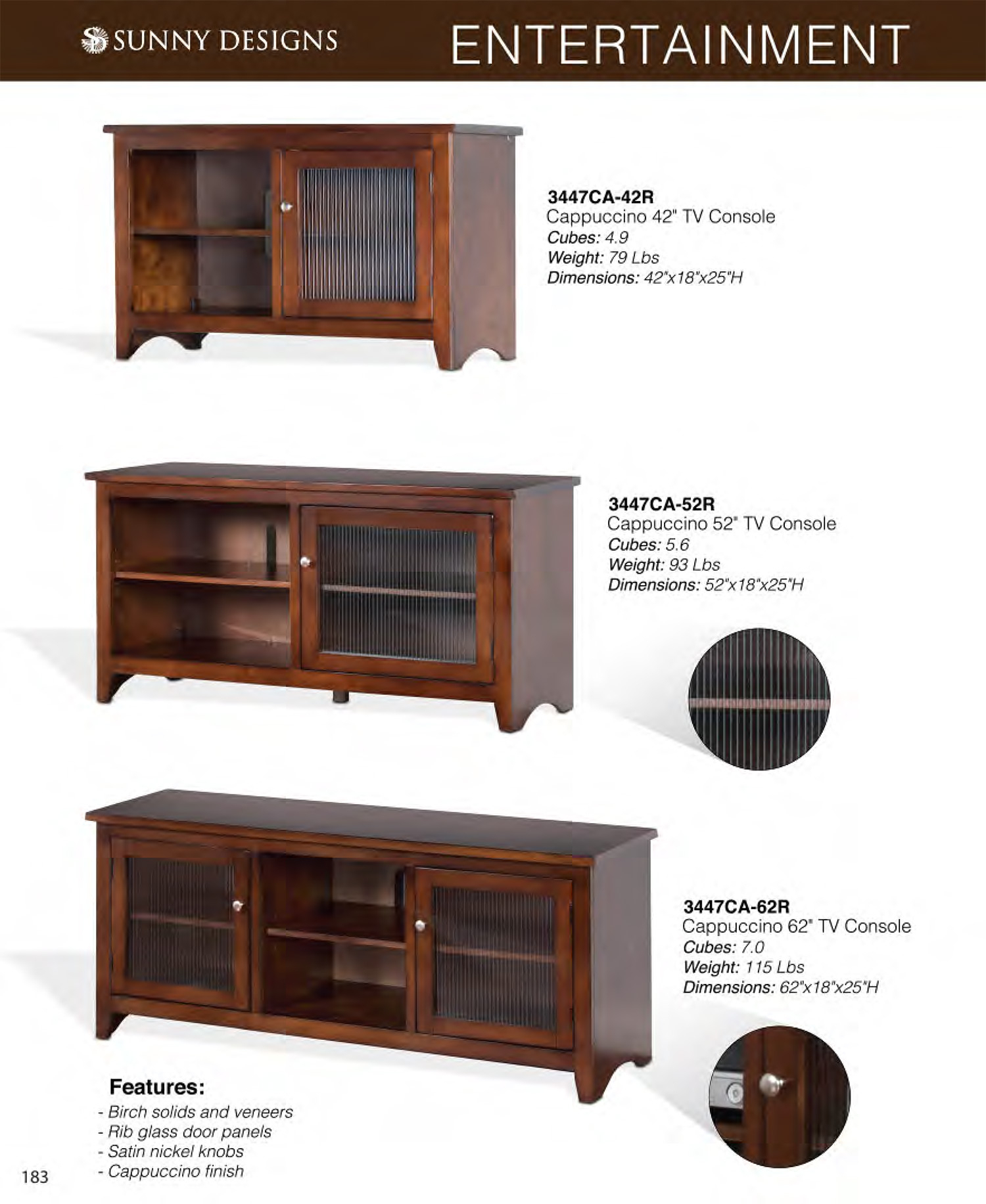 Prices • Sunny Designs Cappuccino Tv Furniture • Al's Woodcraft Regarding Cappuccino Finished Buffets (View 16 of 30)