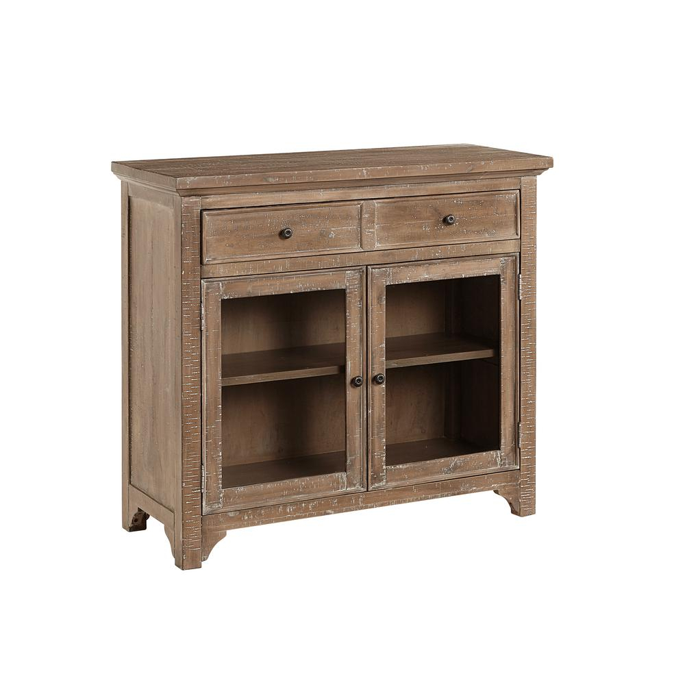 Progressive Furniture Teresa Natural Distressed Serving Pertaining To Lovely Floral Credenzas (View 19 of 30)
