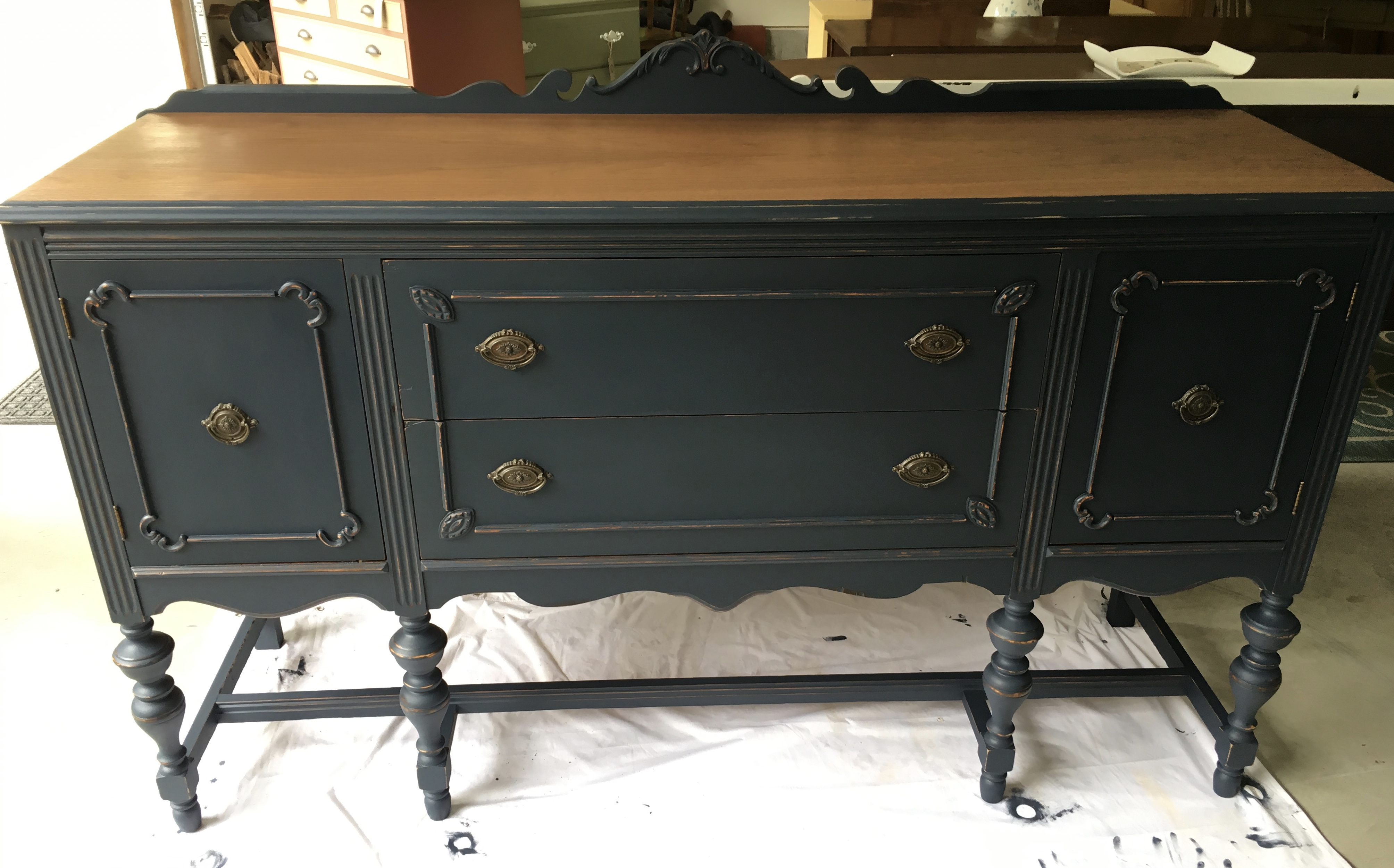 Quality Antique And Vintage Furniture In New Hampshire With Medium Buffets With Wood Top (View 24 of 30)