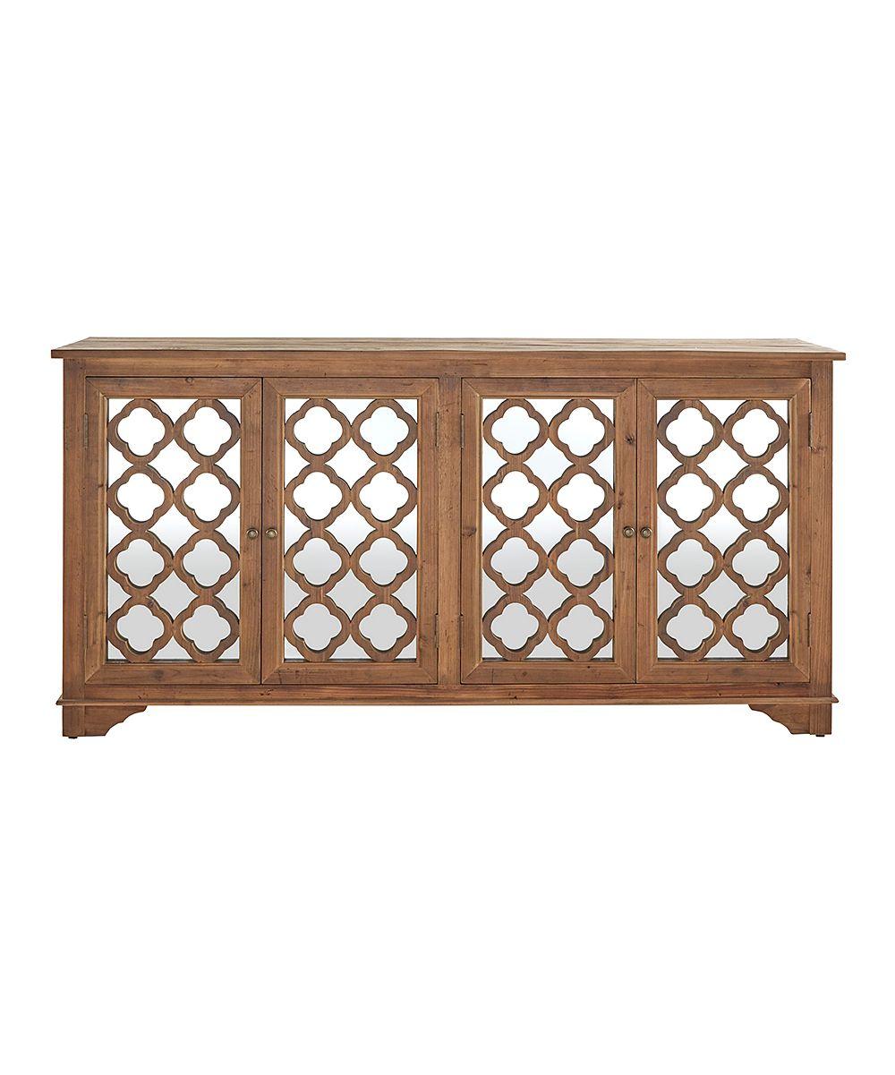Quatrefoil Mirrored Sideboard Cabinet   Products   Sideboard Regarding Haroun Mocha Sideboards (View 24 of 30)