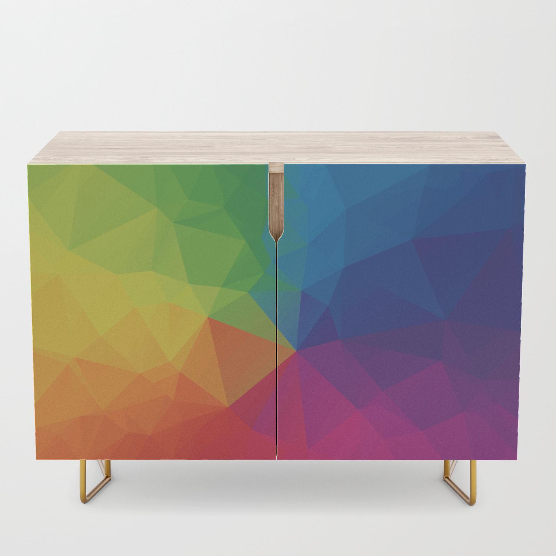 Rainbow Geometric Shapes Credenza Inside Multi Colored Geometric Shapes Credenzas (Gallery 5 of 30)
