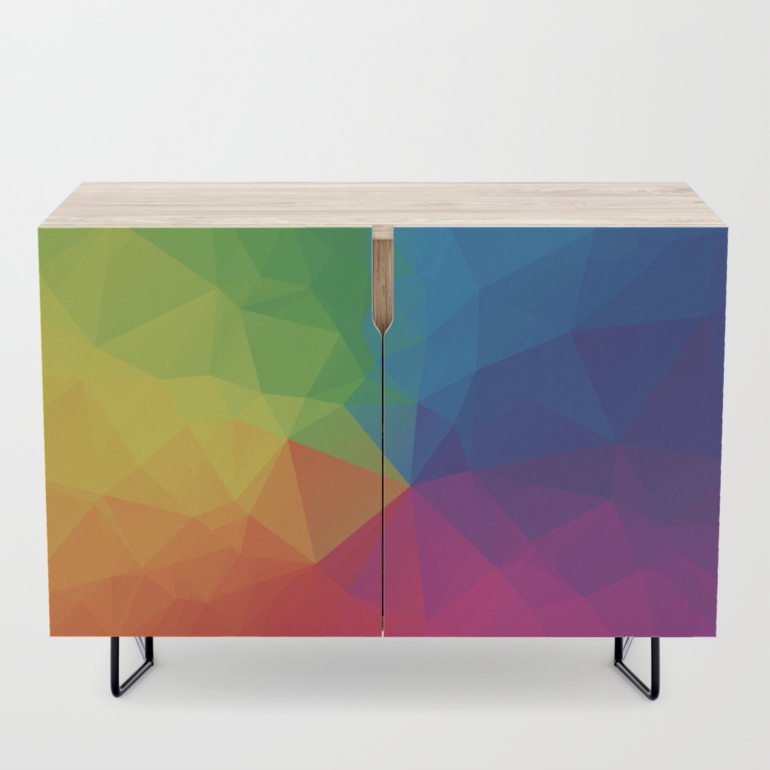 Rainbow Geometric Shapes Credenza Throughout Geometric Shapes Credenzas (Gallery 3 of 30)