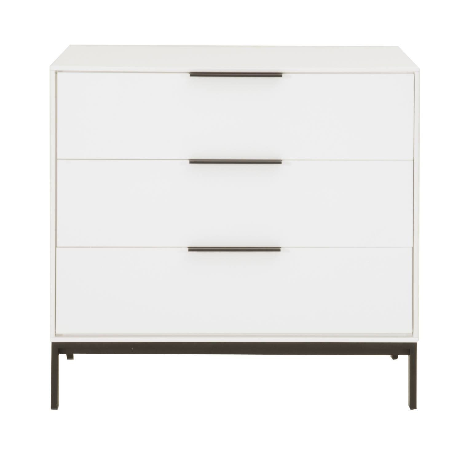 Raisa 3 Drawer Buffet #paynesgray | F U R N I S H For White Wood And Chrome Metal High Gloss Buffets (View 21 of 30)