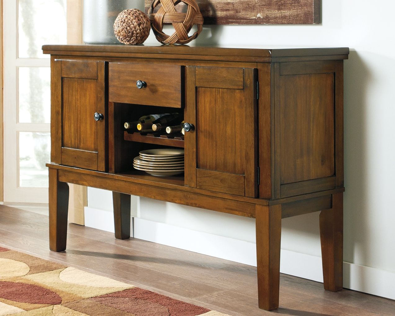 Ralene Dining Room Server, Medium Brown | Products In 2019 With Nashoba Sideboards (Gallery 8 of 30)