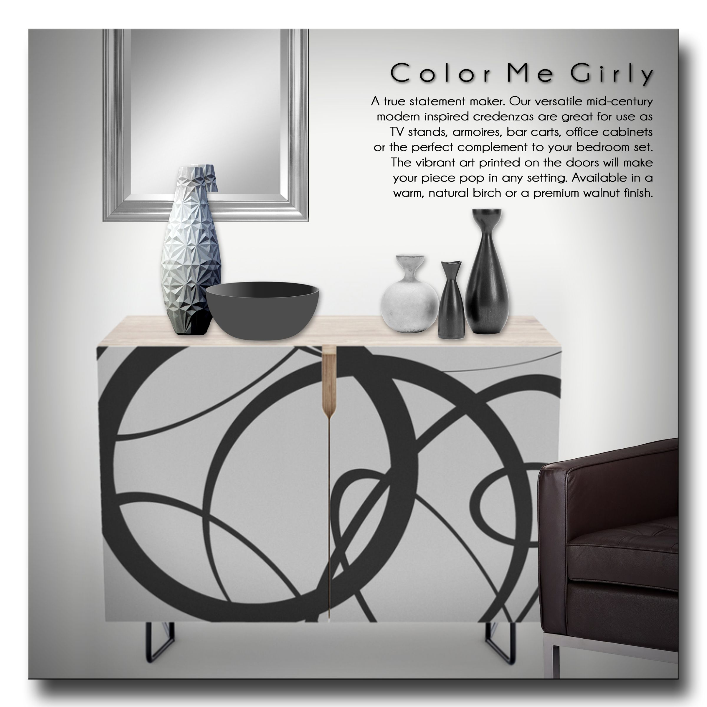 Random Abstract Shapes Credenza – Abstract, Shapes, Circle Pertaining To Geometric Shapes Credenzas (Gallery 6 of 30)
