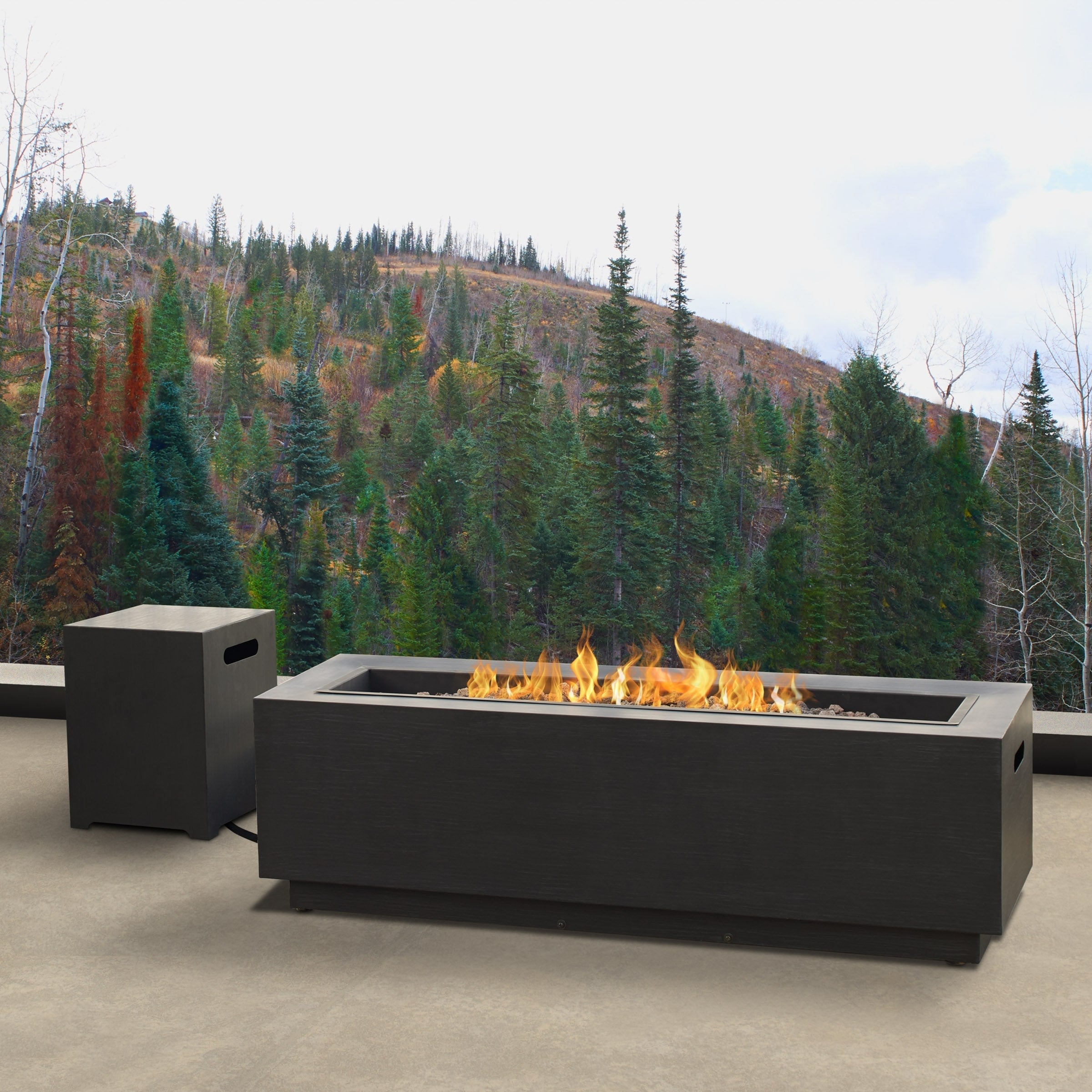 Real Flame Lanesboro Propane Fire Pit W/ Ng Conversion In Lanesboro Sideboards (Gallery 25 of 30)
