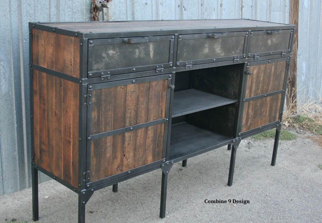 Reclaimed Wood Hutch And Buffet #xd76 – Advancedmassagebysara In Medium Buffets With Wood Top (View 7 of 30)