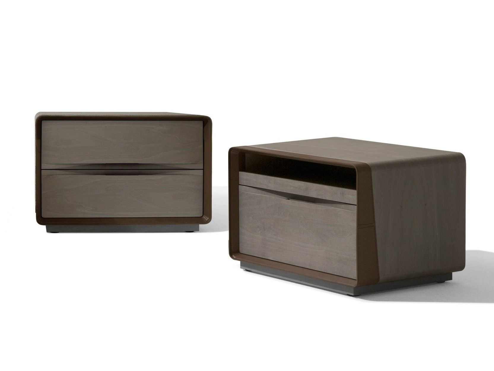 Rectangular Maple Bedside Table With Drawers Frame | Bedside intended for Madison Park Kagen Grey Sideboards (Image 26 of 30)