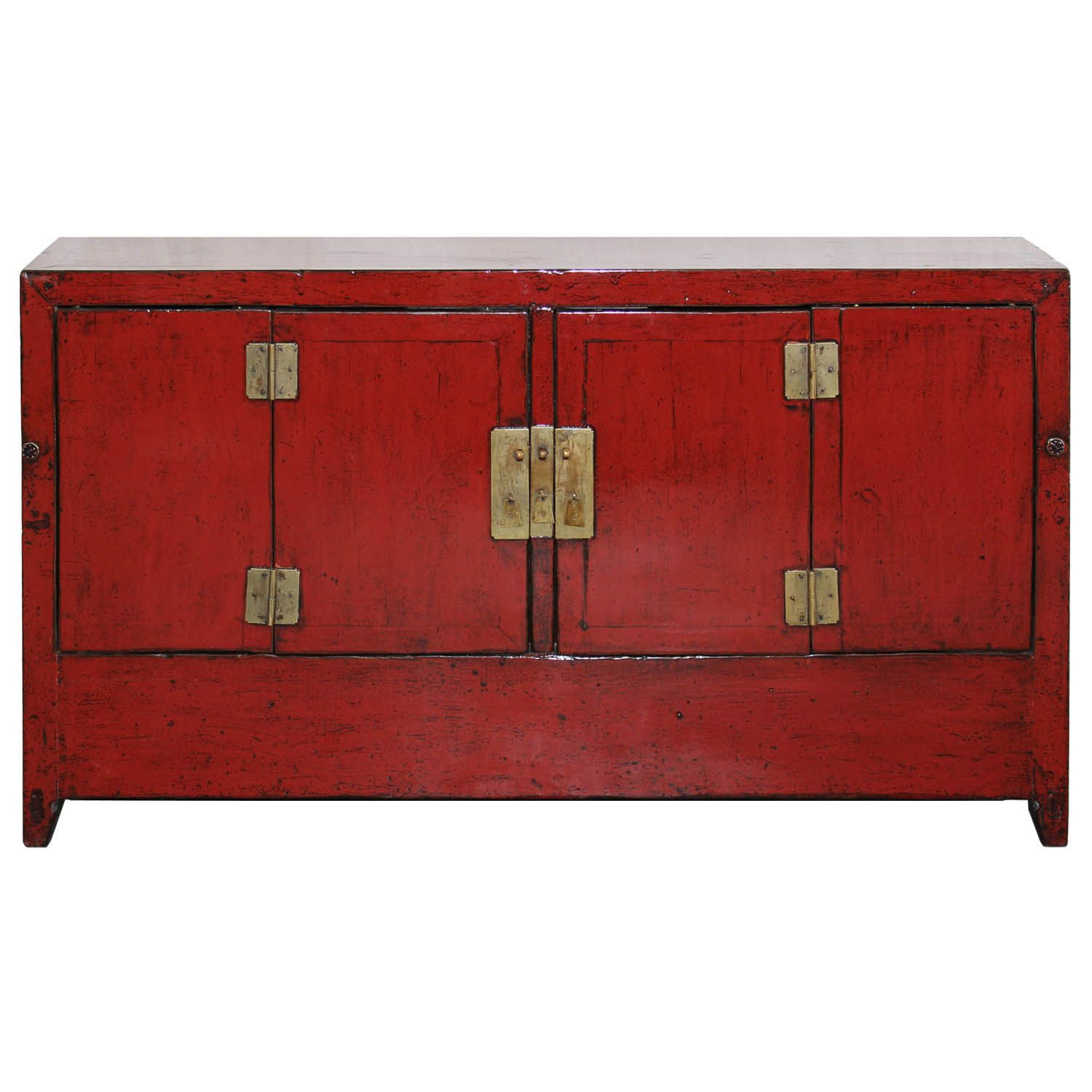 Red Dongbei Sideboard | Spice It Up With Fiery Red Within 4 Door Lacquer Buffets (Gallery 12 of 30)