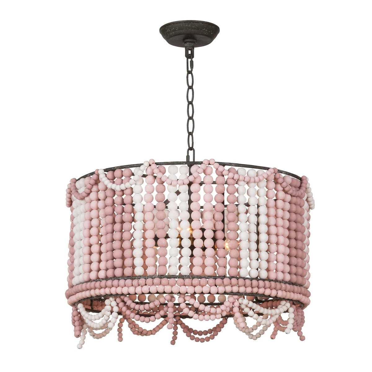 Regina Andrew Malibu Drum Pendant   Weathered Pink Regarding Pale Pink Bulbs Credenzas (Photo 30 of 30)
