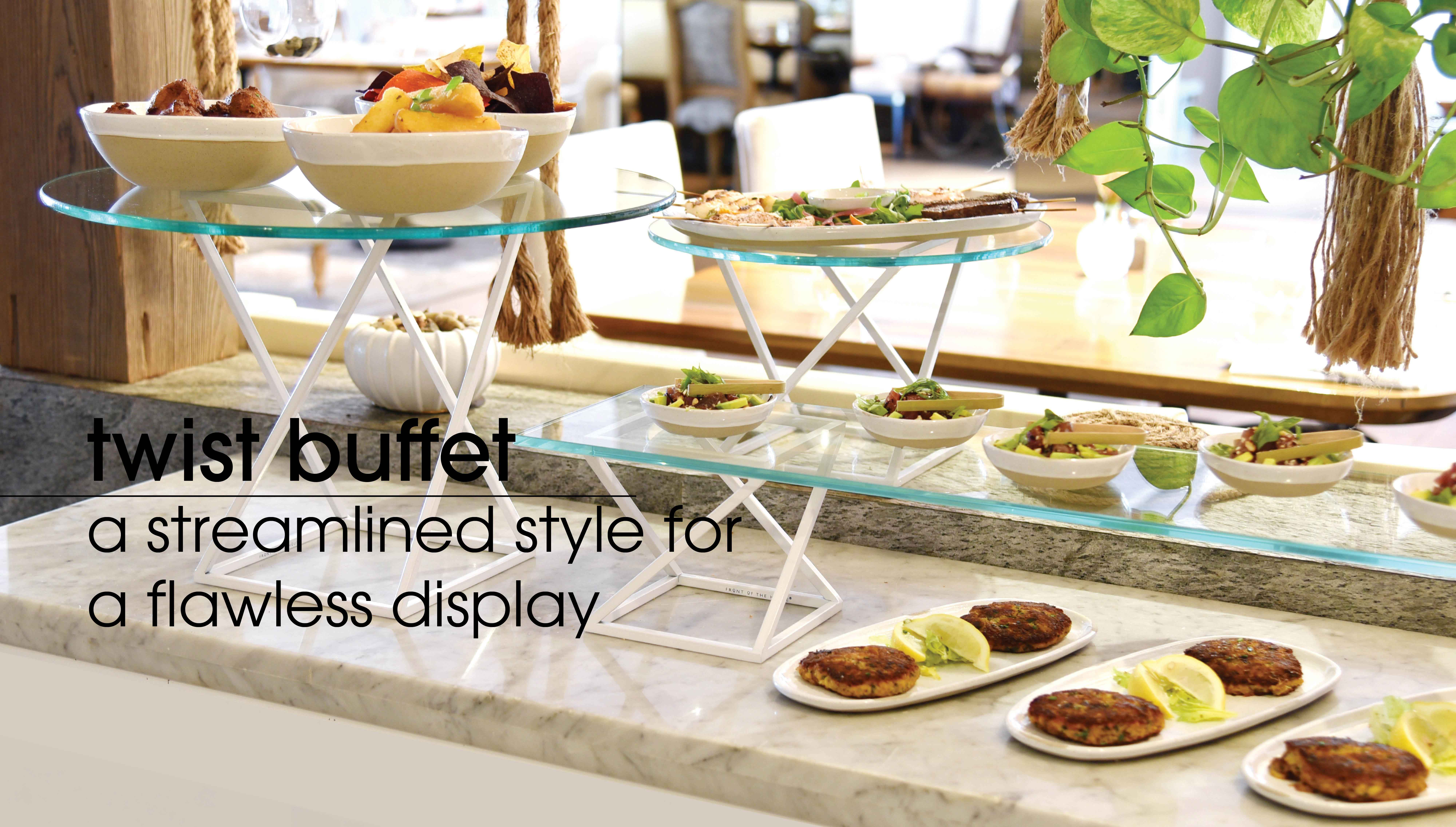 Restaurant Dinnerware & Supplies   Front Of The House® With Regard To Contemporary Rolling Buffets (Photo 22 of 30)