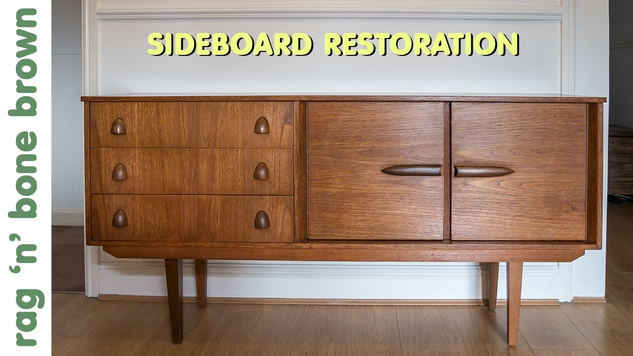 Restoring And Repairing A Mid Century Modern Style Sideboard With Regard To Mid Century Brown Sideboards (Gallery 22 of 30)