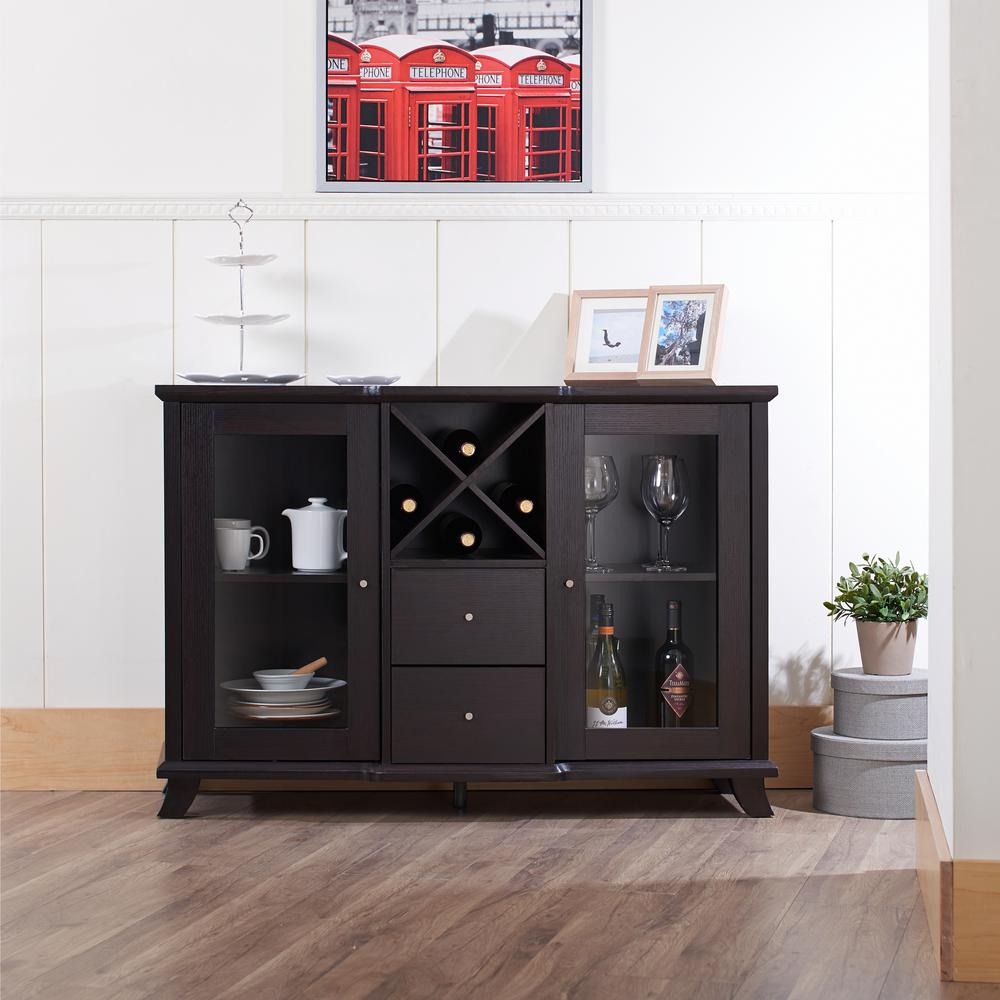 Reyne Cappuccino Buffet Intended For Espresso Wood Multi Use Buffets (Gallery 7 of 30)
