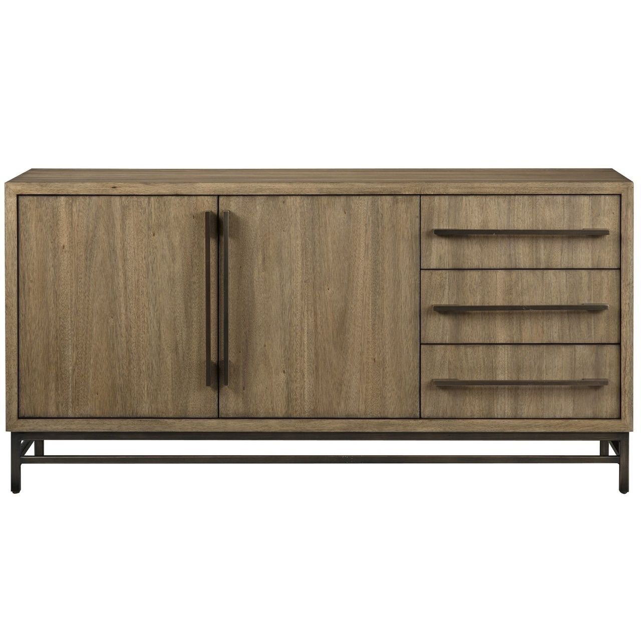 "Roland Bronze Metal + Wood Buffet Sideboard 64"" In 2019 Regarding Sideboards By Foundry Select (View 24 of 30)"