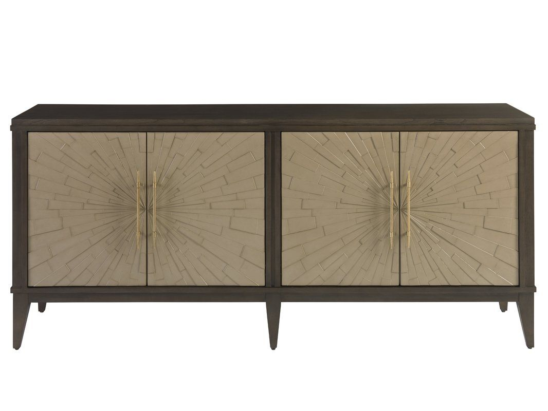 Rosdorf Park Kattie 4 Door Cabinet | Design Notes Regarding Kattie 4 Door Cabinets (Gallery 6 of 30)