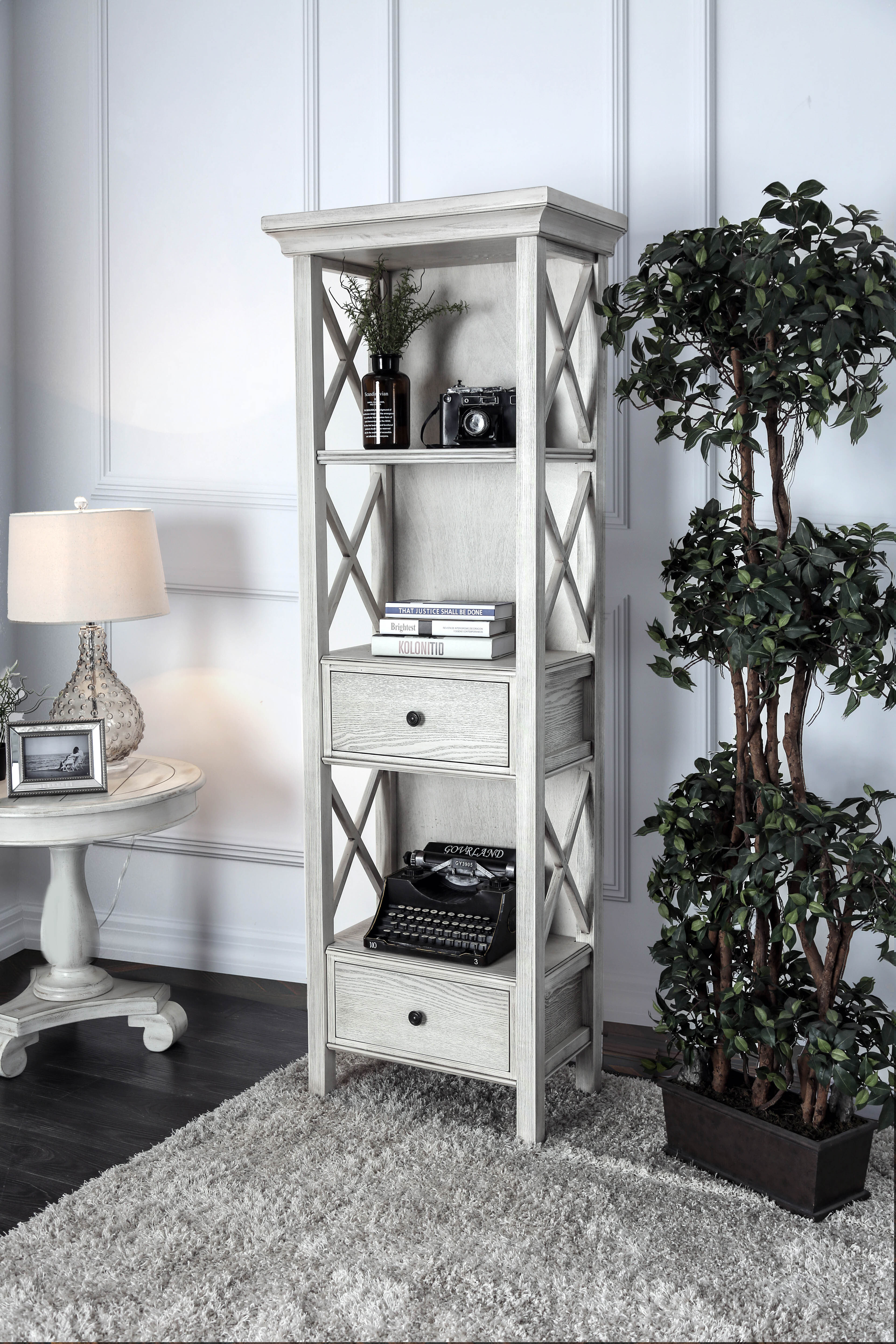 Rosecliff Heights Dykstra Pier Standard Bookcase   Wayfair Pertaining To Festival Eclipse Credenzas (Gallery 27 of 30)