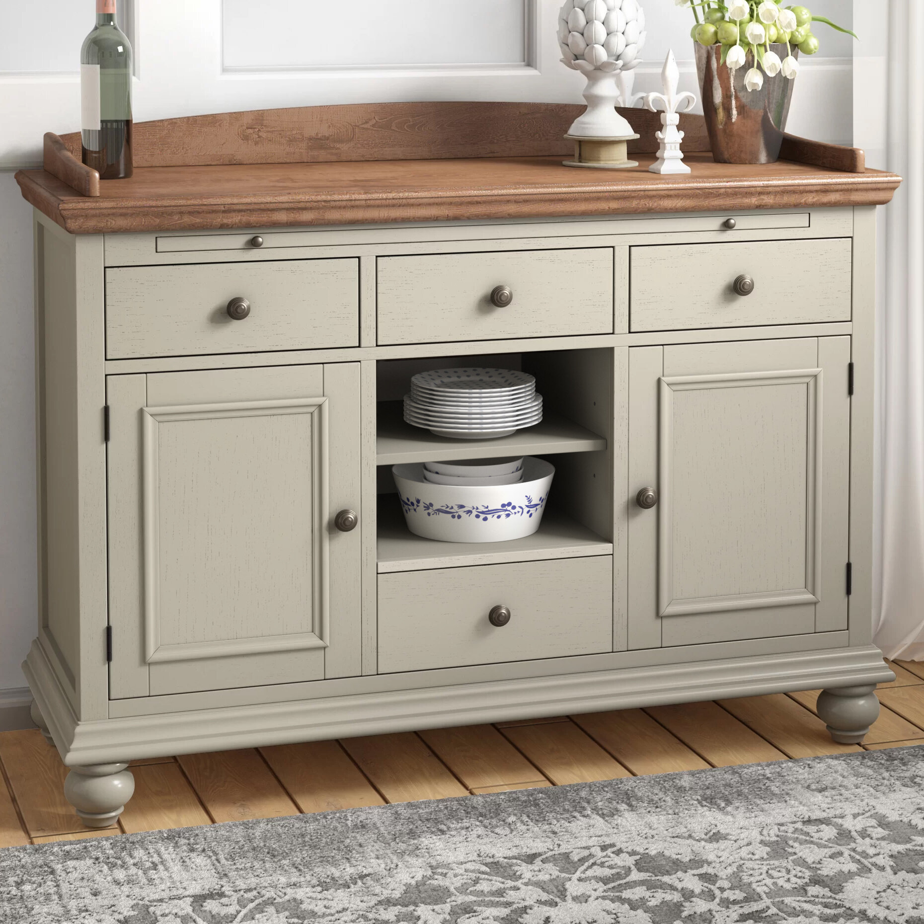 Rosecliff Heights Ruskin Sideboard & Reviews | Wayfair With Cambrai Sideboards (View 21 of 30)