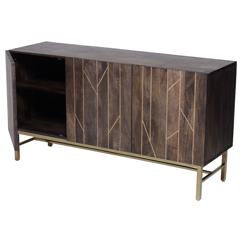 Rupert Sideboard Brass Inlay   Walnut   Matt Blatt In 2019 With Regard To Ruskin Sideboards (Photo 11 of 30)