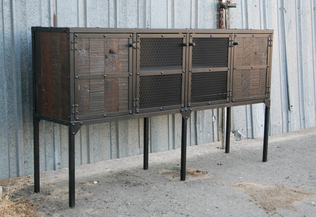 Rustic Buffet – Reclaimed Wood Credenza, Sideboard – Combine with regard to Industrial Concrete-Like Buffets (Image 27 of 30)