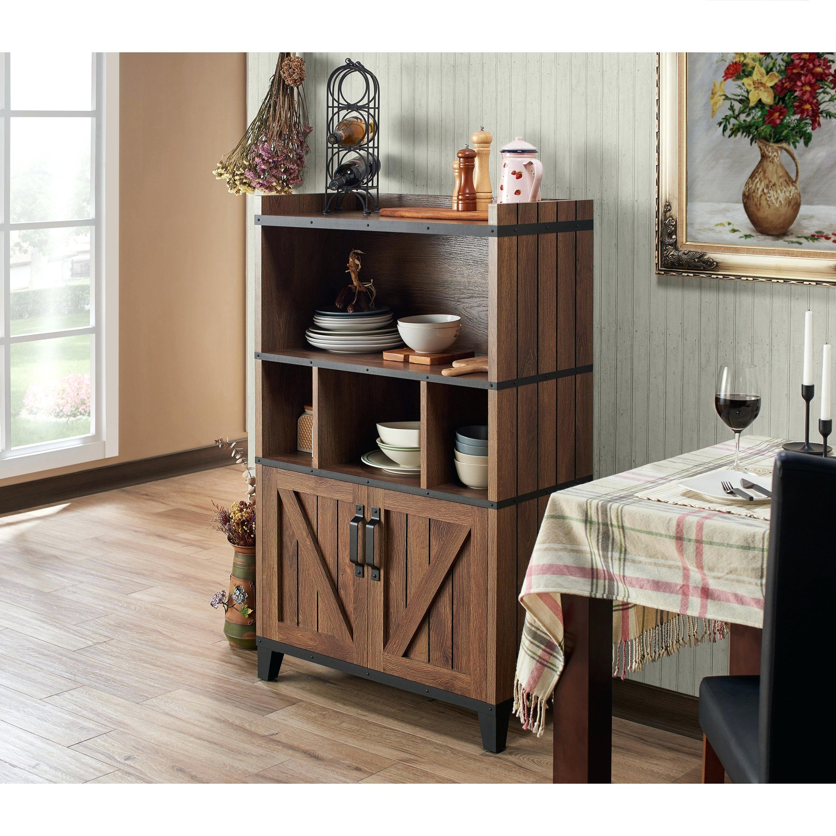 Rustic Buffet Table – Thefeelancer.co For Rustic Walnut Buffets (Gallery 6 of 30)