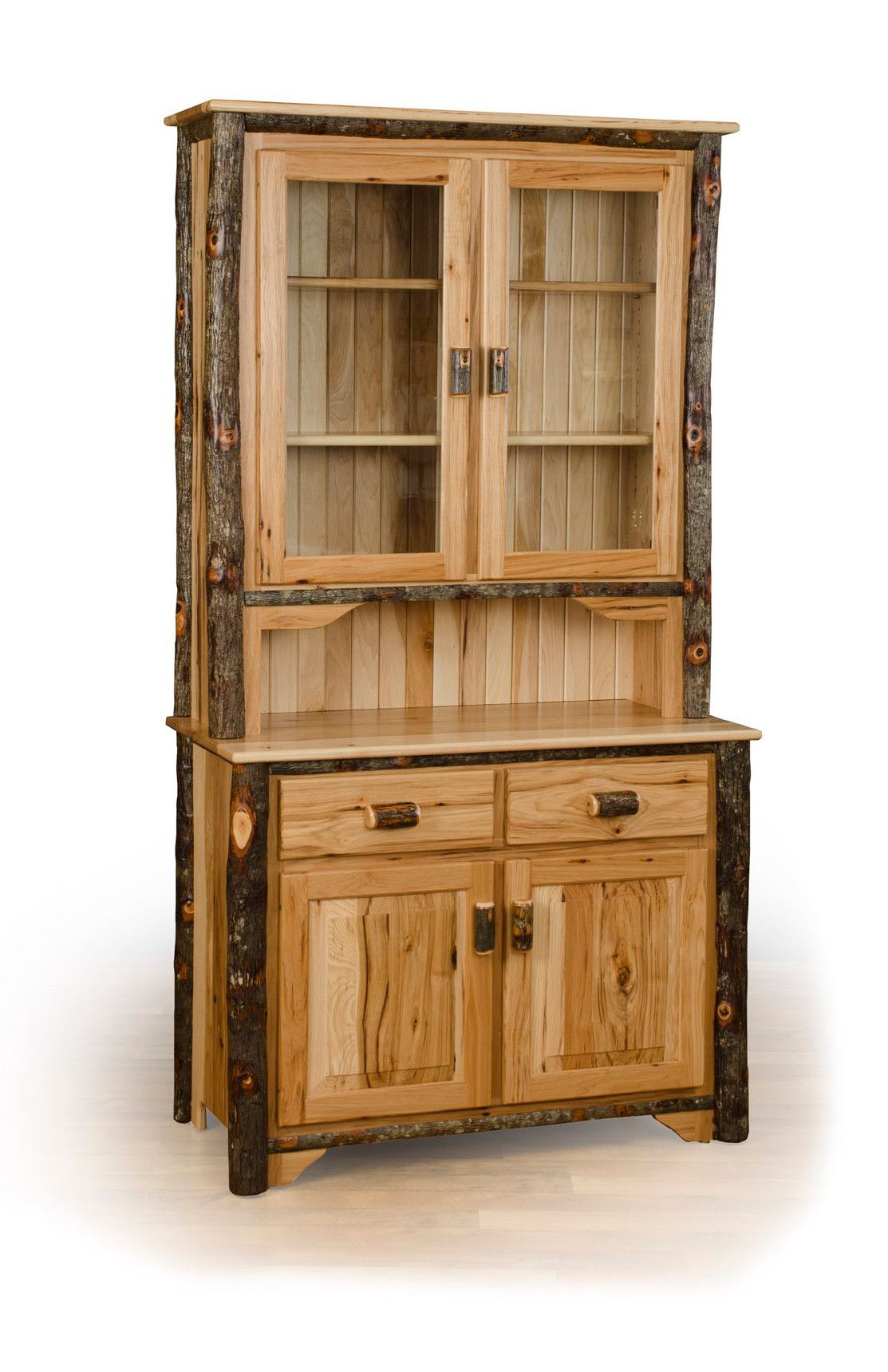 Rustic Hickory 2 Door Side Board Server/buffet | Houses And Intended For Contemporary Wooden Buffets With One Side Door Storage Cabinets And Two Drawers (Gallery 28 of 30)