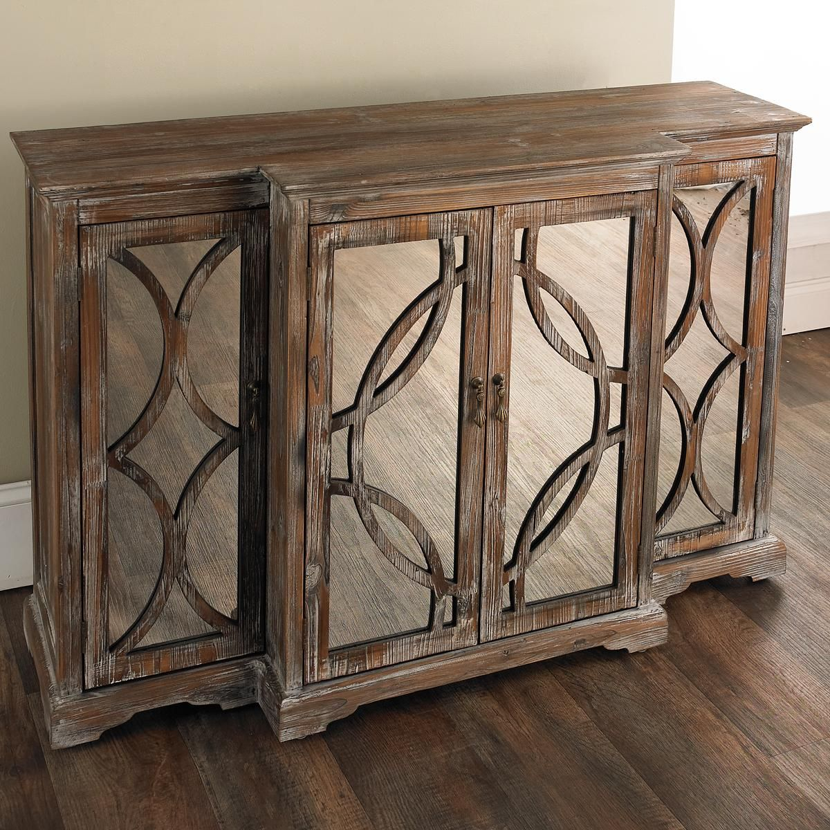 Rustic Mirror Front Sideboard | Accent Furniture | Mirrored In Aberdeen Westin Sideboards (Photo 13 of 30)