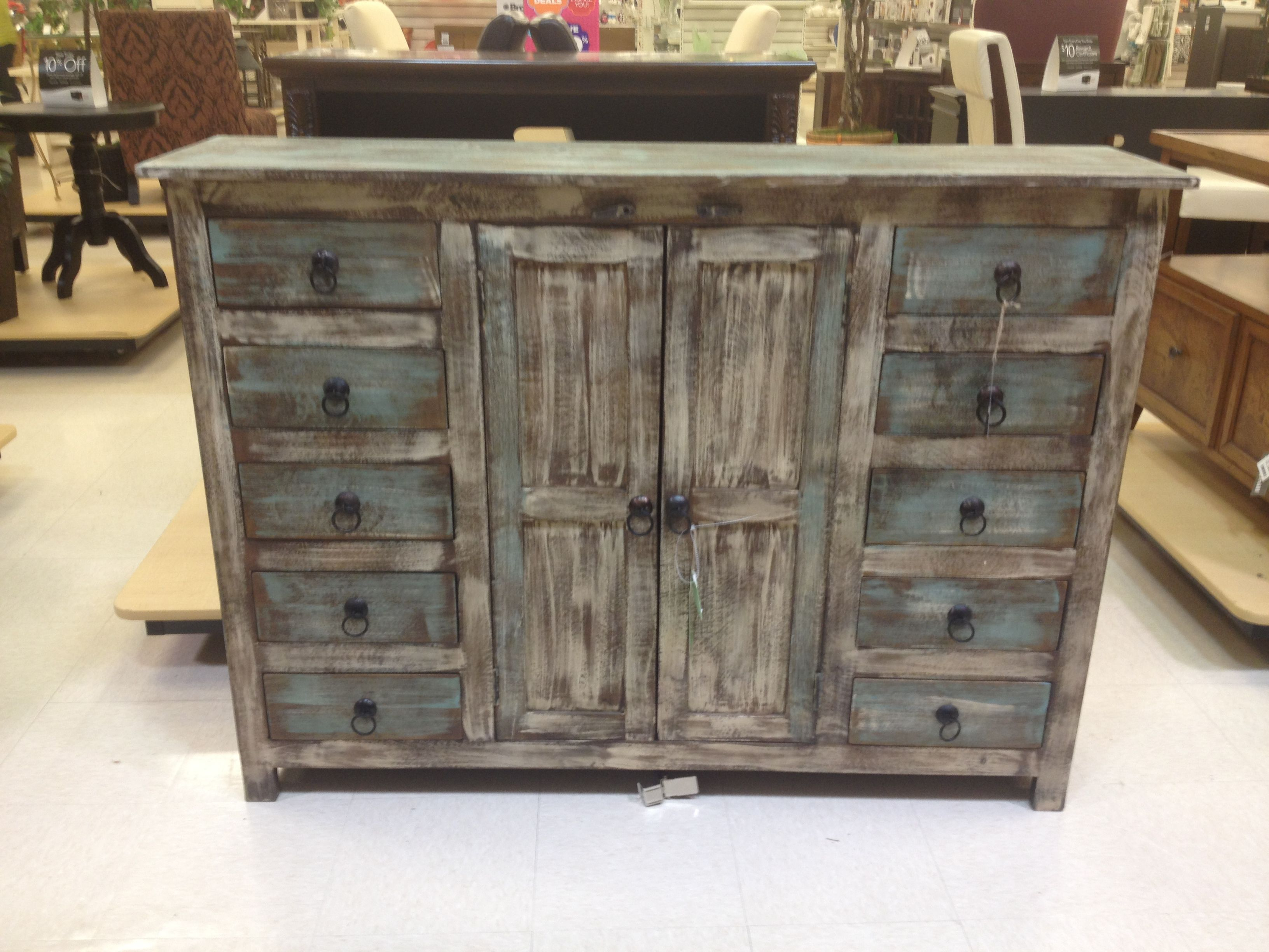 Rustic Weathered-Blue Buffet Or Credenza | Home Goods $600 with regard to Ilyan Traditional Wood Sideboards (Image 24 of 30)