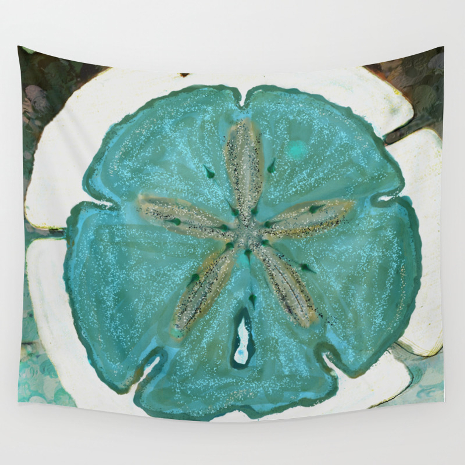 Sand Dollars Ocean Colors Wall Tapestry With Regard To Mandala Tile Marine Credenzas (View 27 of 30)