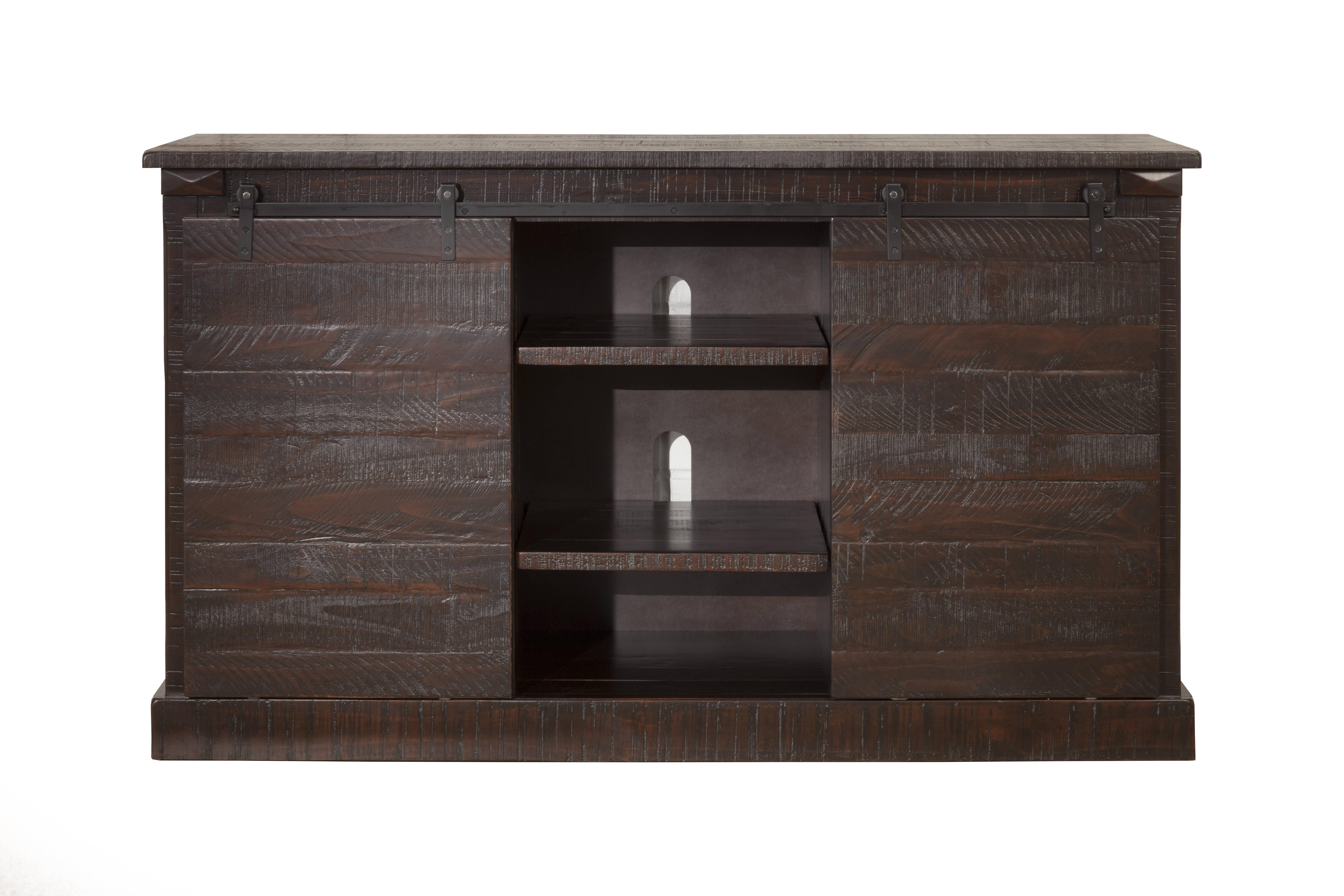 Sandberg Furniture Hillsboro Espresso Barn Door Tv Stand Inside Espresso Sliding Door Stackable Buffets (View 17 of 30)