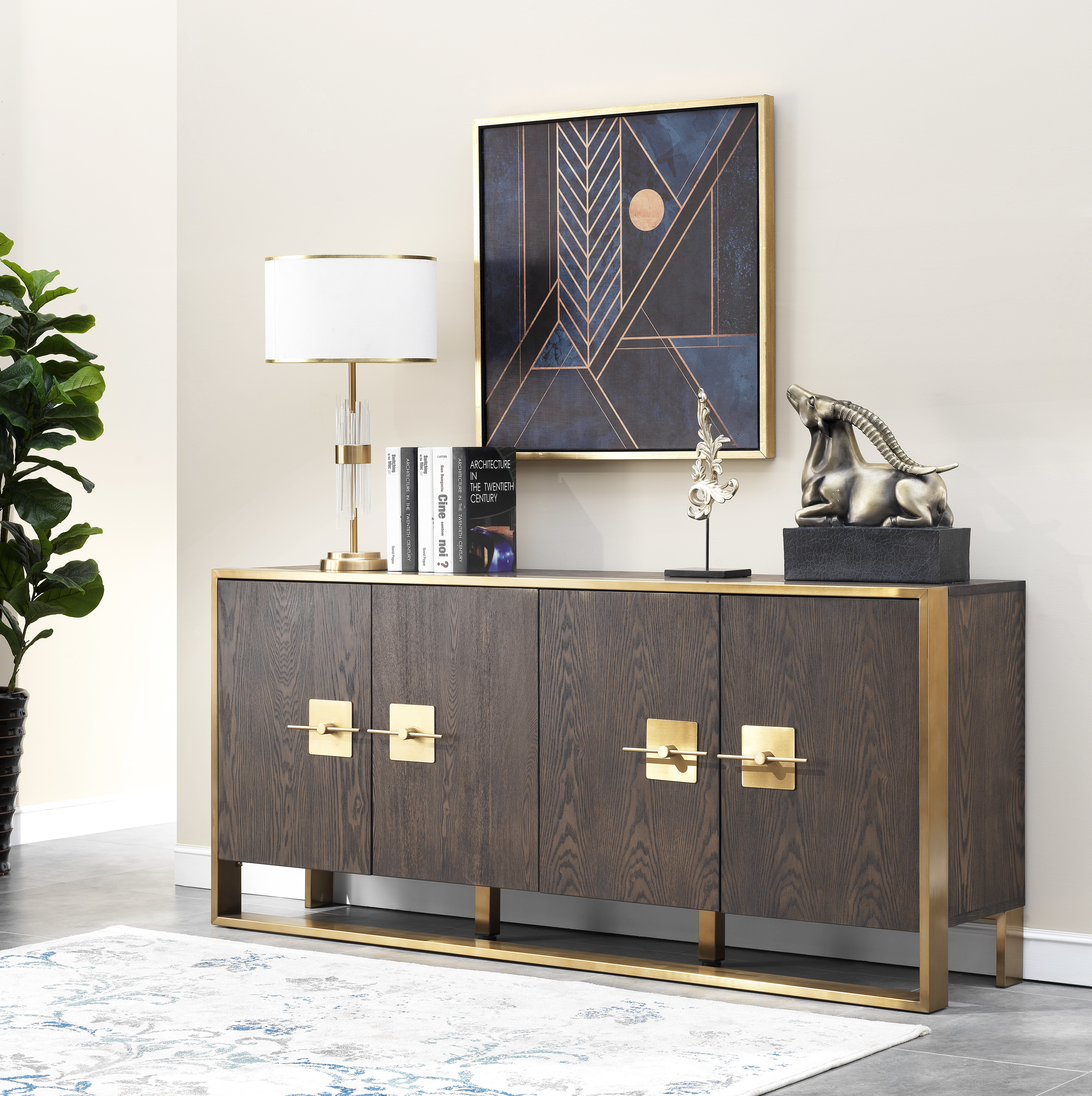 Sandisfield Media Credenza with regard to Simple Living Layla Black Buffets (Image 17 of 30)
