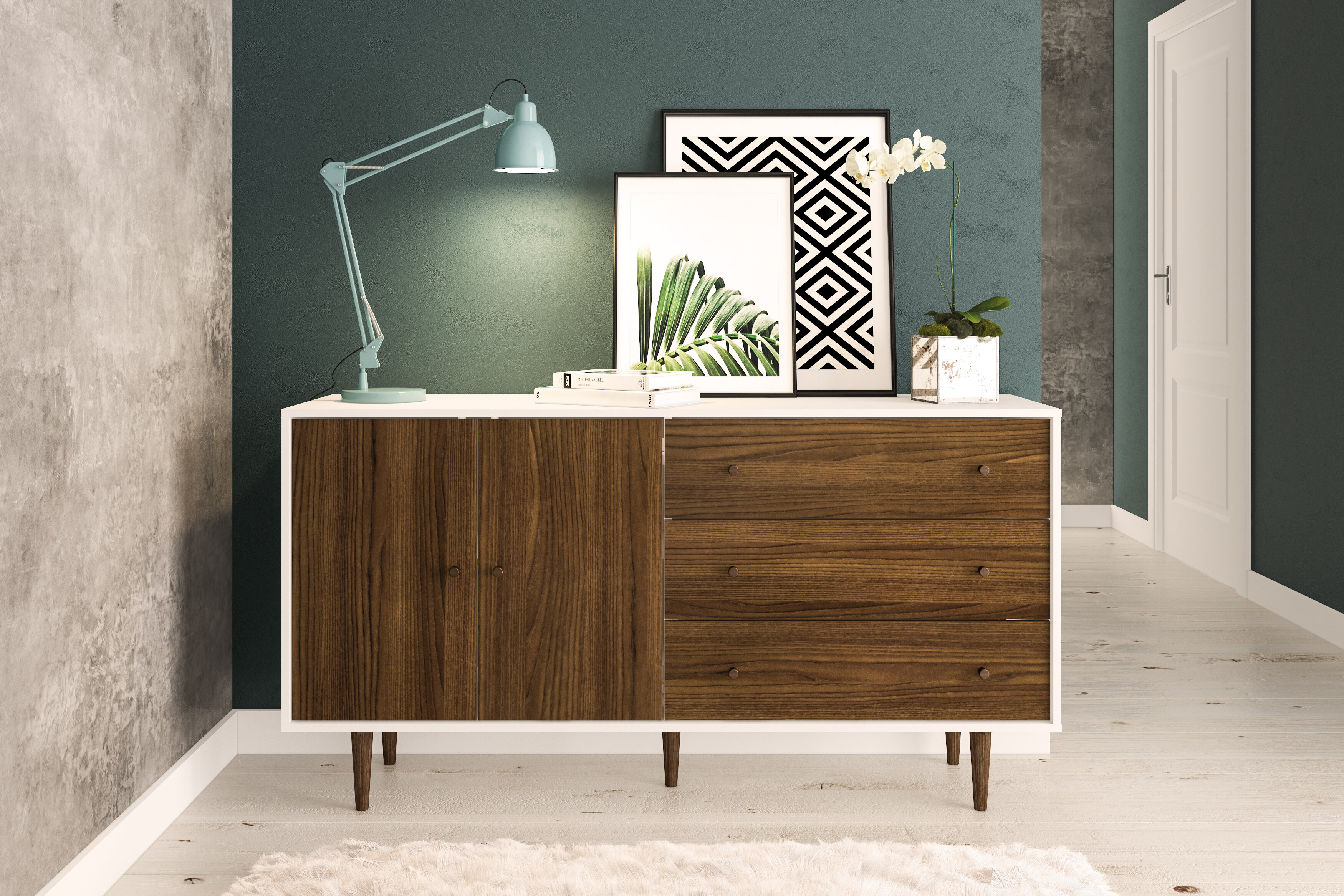Schaeffer Sideboard With Keiko Modern Bookmatch Sideboards (View 7 of 30)