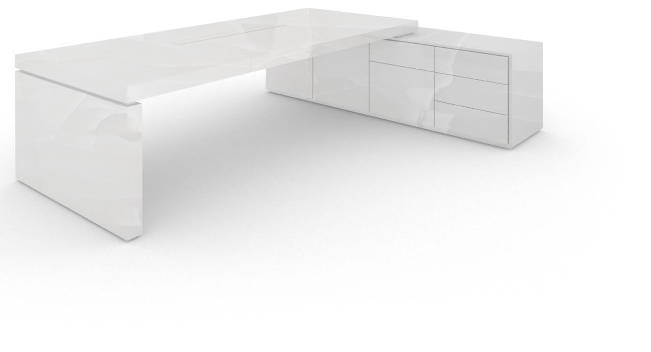 Schreibtisch Iv I, Marmor, Weiß – Felix Schwake In Cher Sideboards (View 20 of 30)