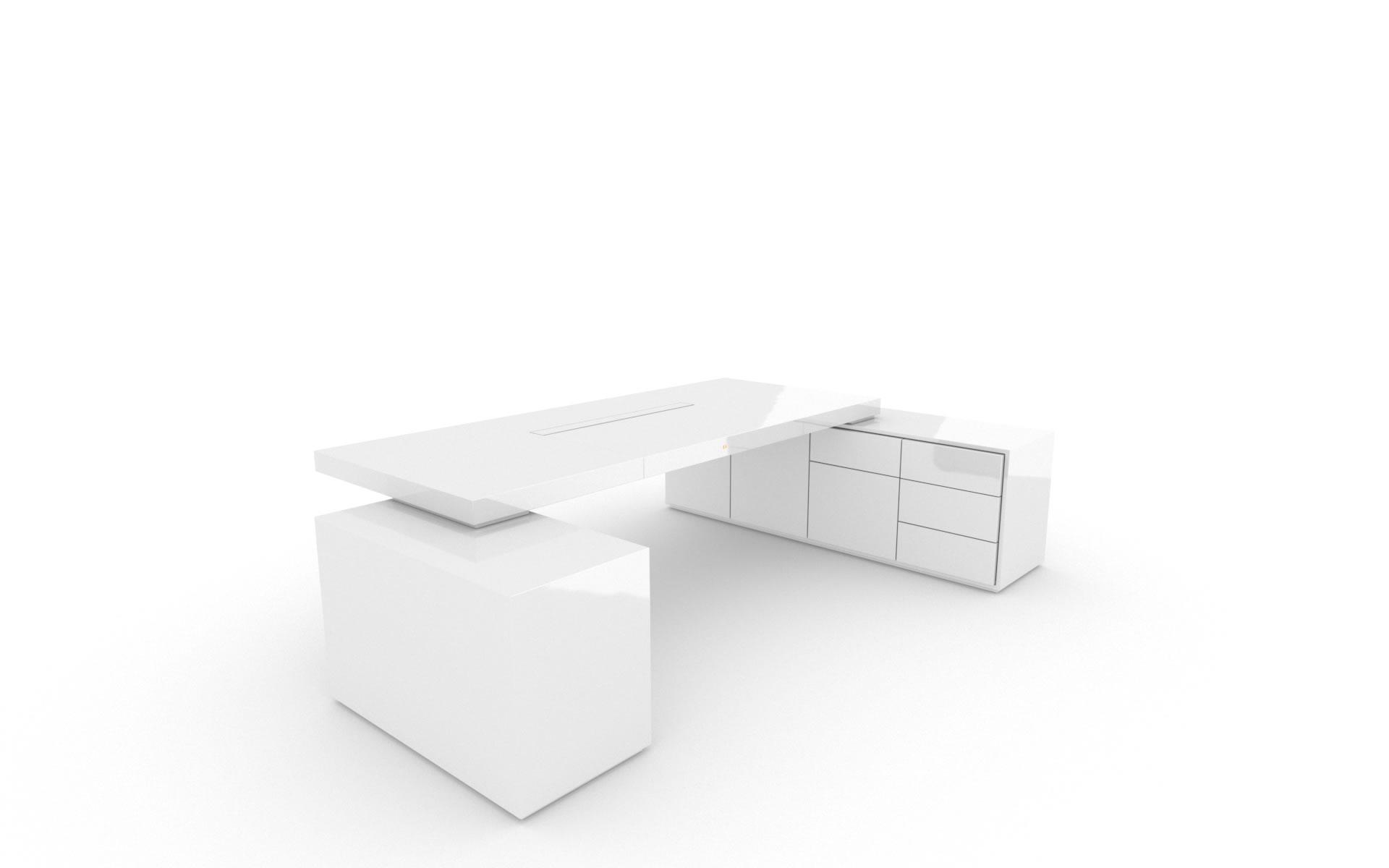 Schreibtisch Iv Ii, Klavierlack Weiß – Felix Schwake Inside Cher Sideboards (View 21 of 30)