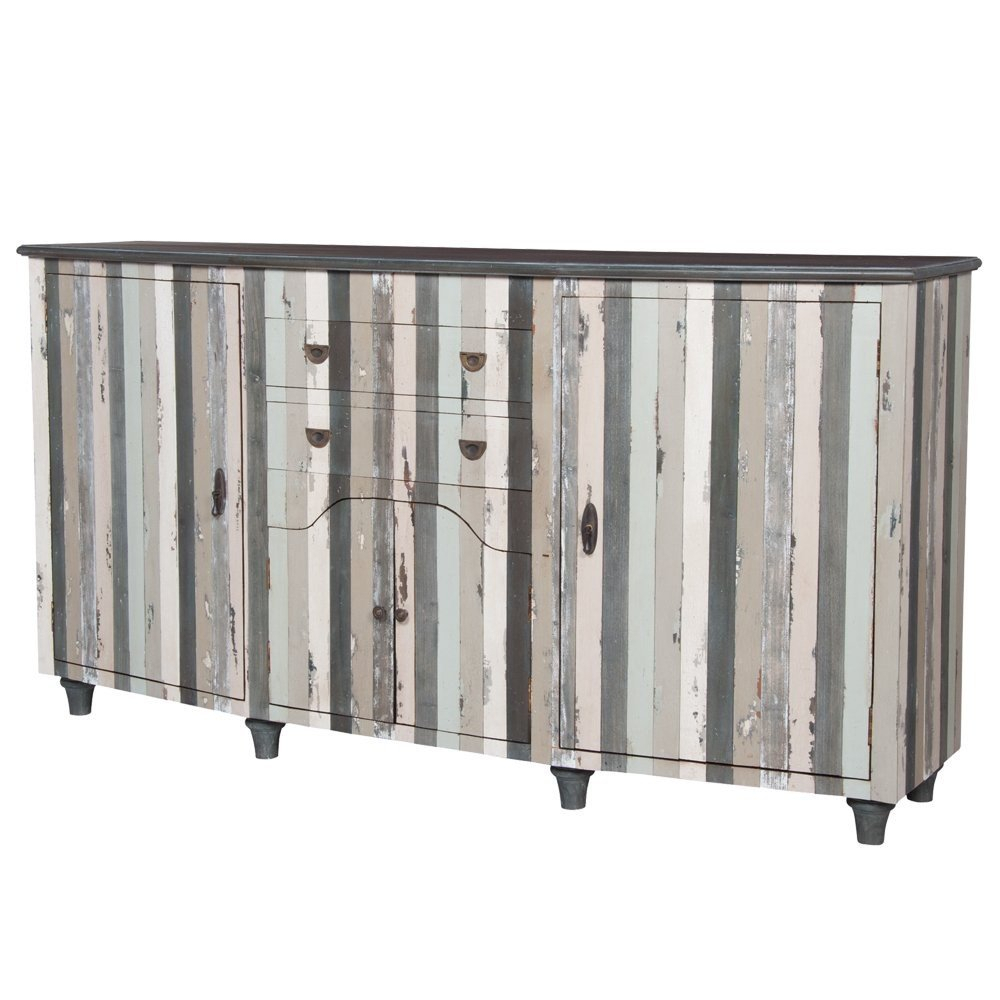 Seaside Cottage Striped Credenza in Multi Stripe Credenzas (Image 26 of 30)