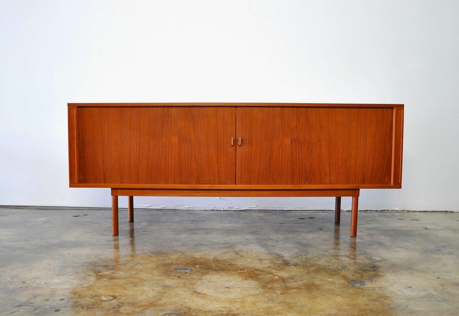Select Modern Danish Modern Jens Quistgaard Teak Credenza In Modern Teak Buffets (View 9 of 30)