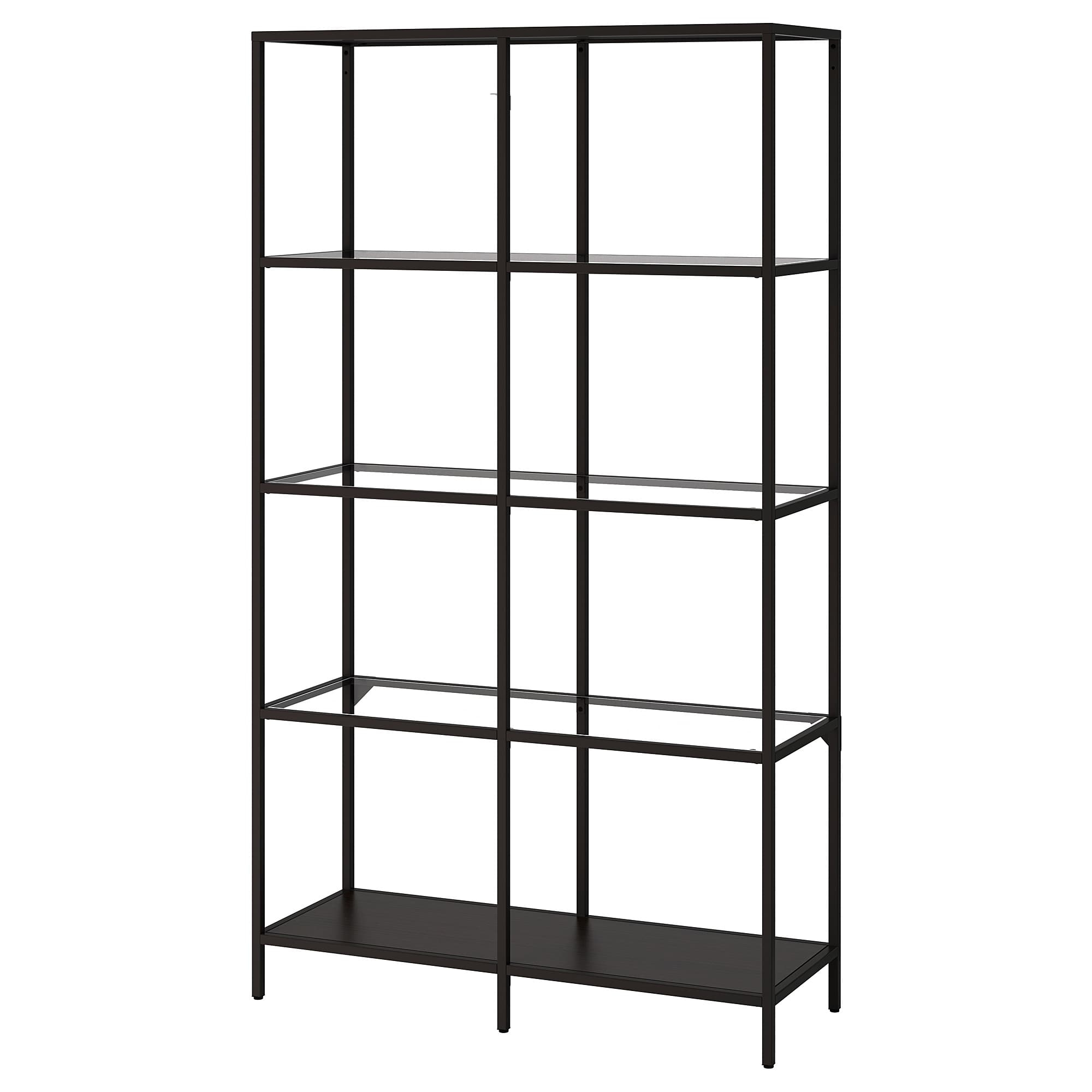 Shelf Unit Vittsjö Black Brown, Glass Pertaining To Contemporary Three Tier Glass Buffets With Black Metal Frame (View 27 of 30)