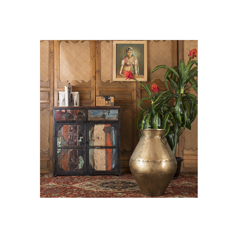 """Sideboard In Recycled Wood """"periya"""" Small within Abhinav Credenzas (Image 27 of 30)"""