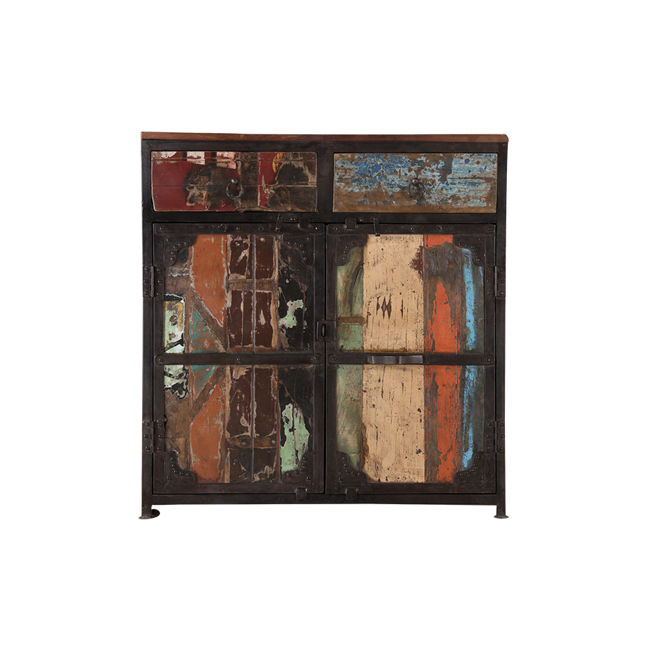 """Sideboard In Recycled Wood """"periya"""" Small within Abhinav Credenzas (Image 26 of 30)"""