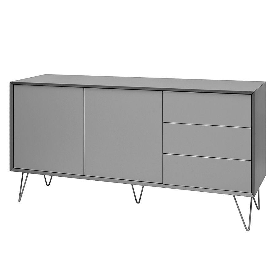 Sideboard Jerrell I - Matt Grau | A 装饰柜 In 2019 inside 3-Drawer Titanium Buffets (Image 28 of 30)